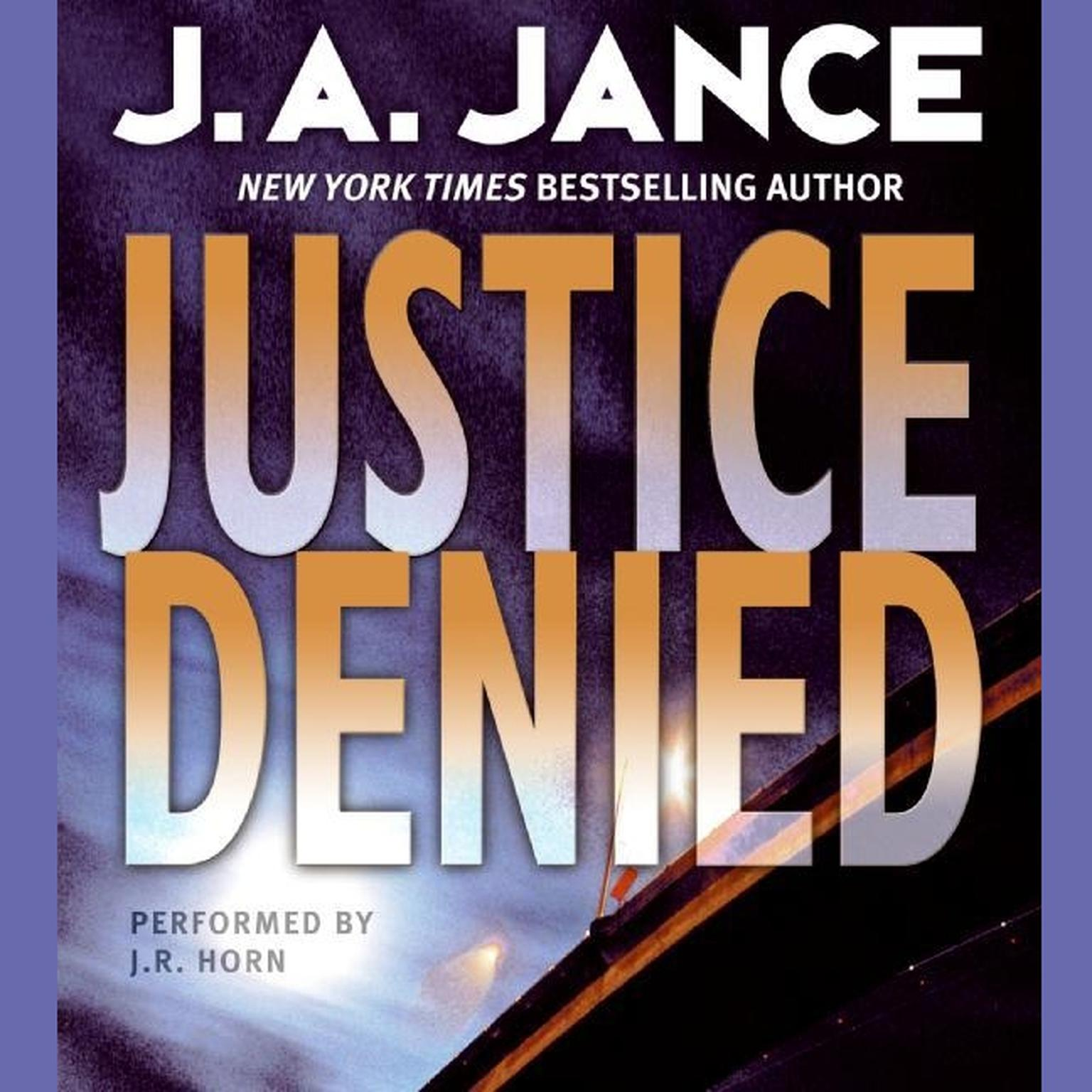 Printable Justice Denied Audiobook Cover Art