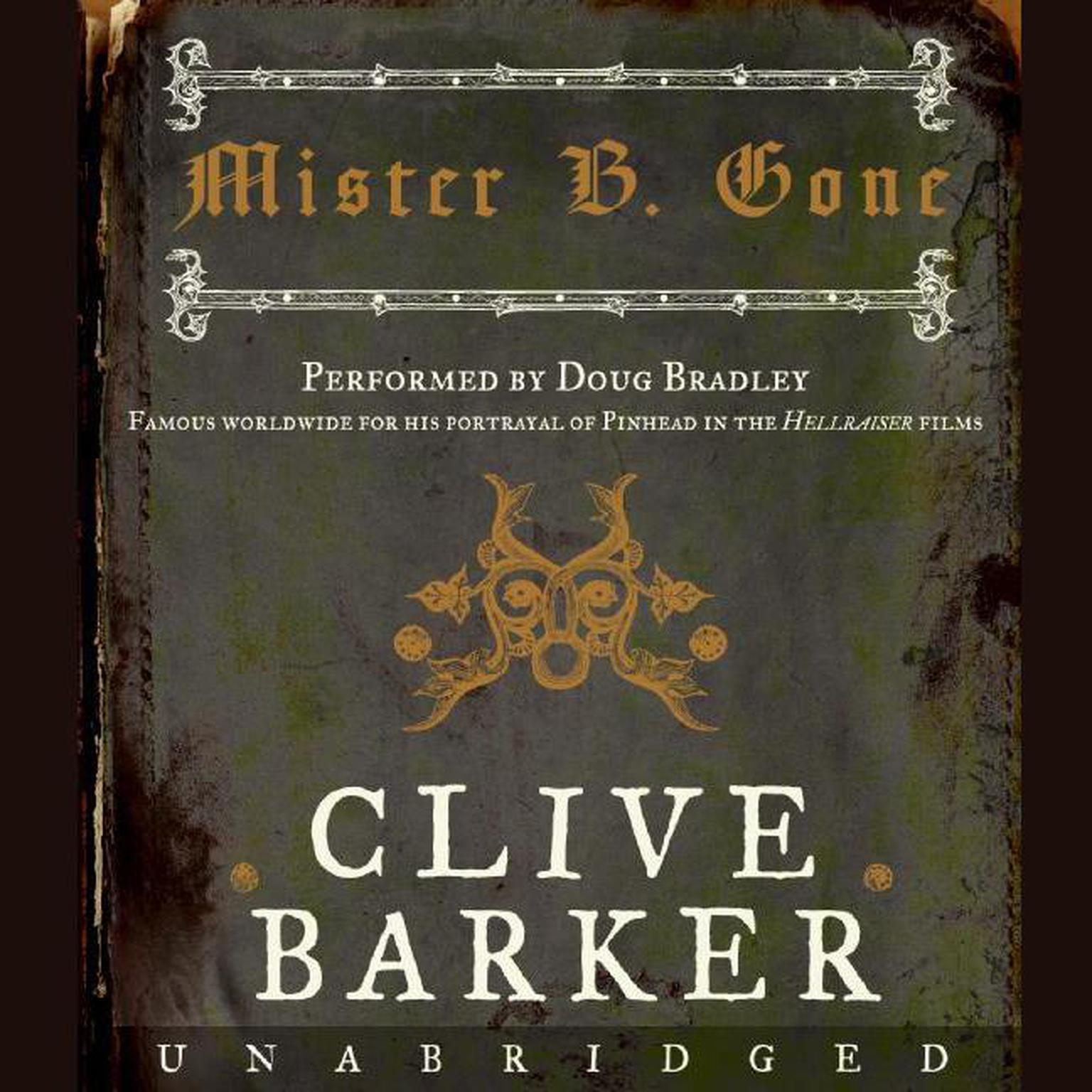 Printable Mister B. Gone Audiobook Cover Art