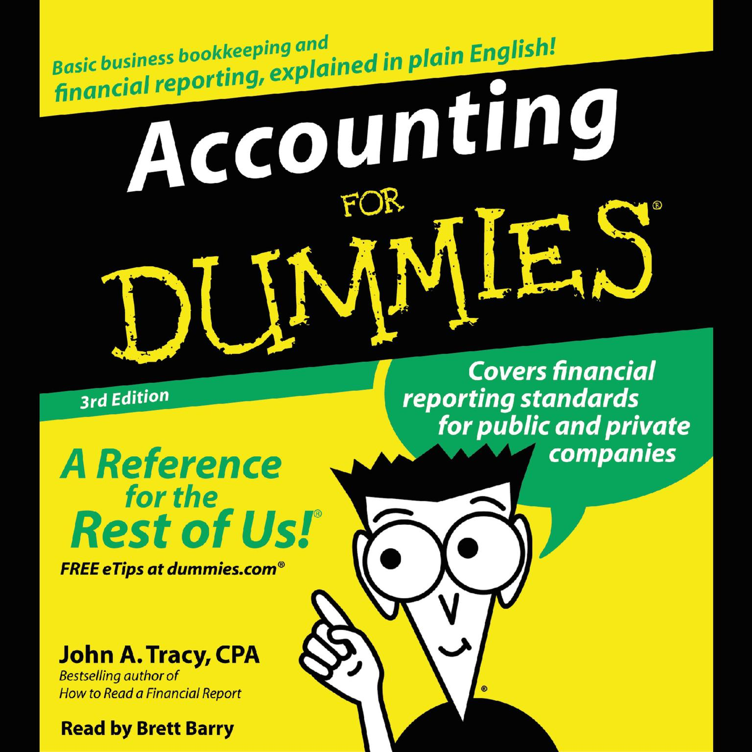 Printable Accounting for Dummies, 3rd Edition Audiobook Cover Art