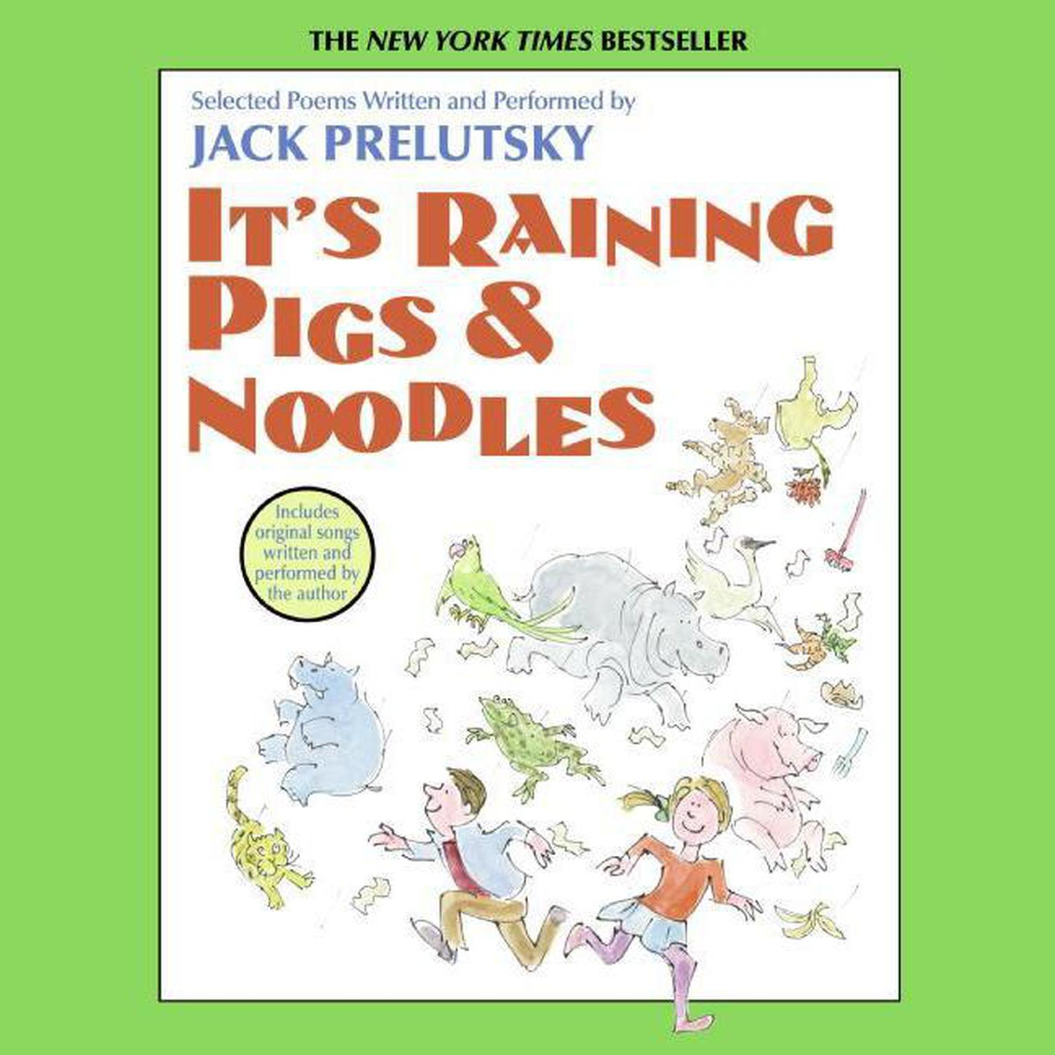 Printable It's Raining Pigs and Noodles Audiobook Cover Art