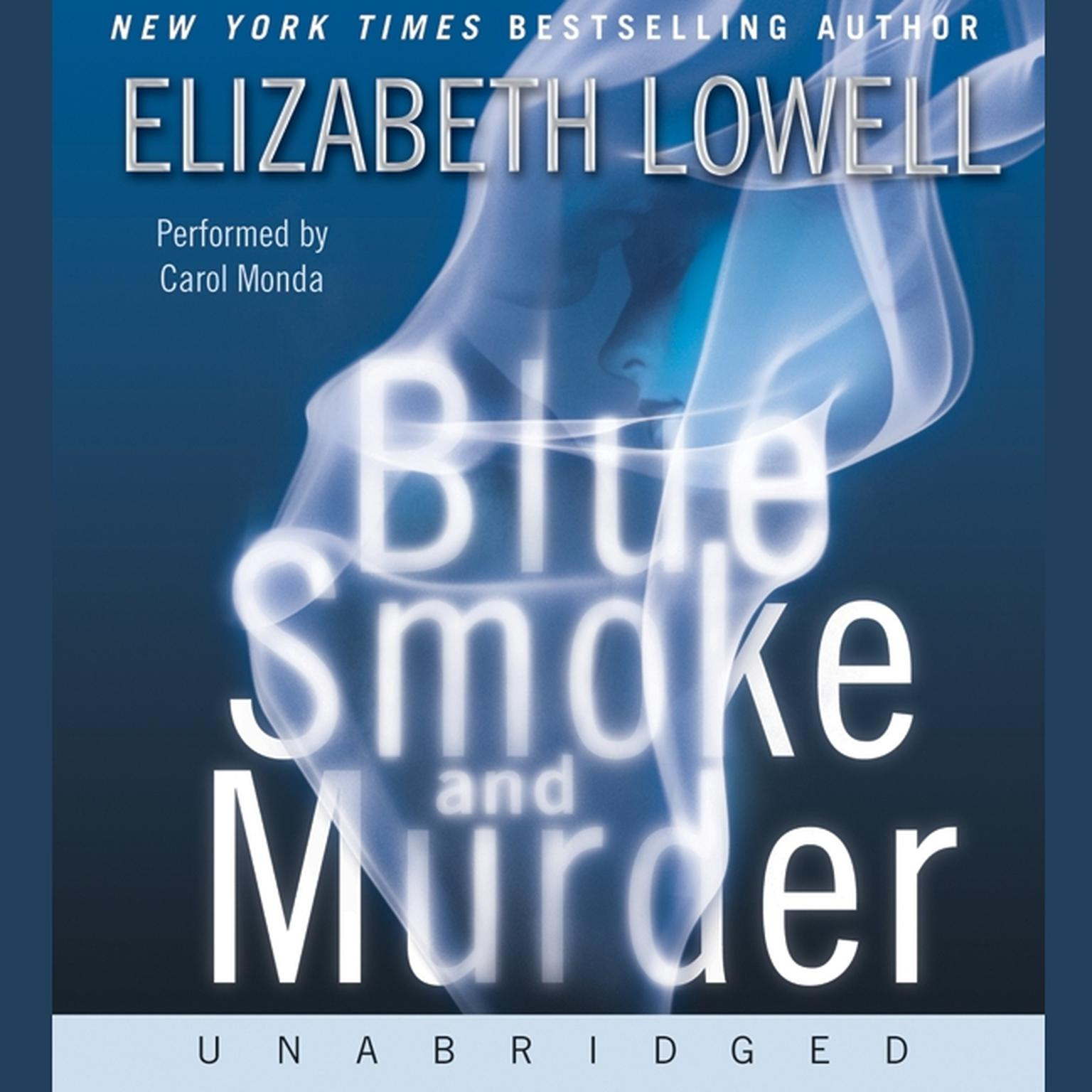 Printable Blue Smoke and Murder Audiobook Cover Art