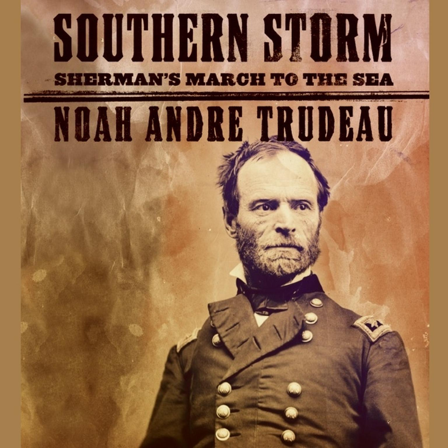Printable Southern Storm: Sherman's March to the Sea Audiobook Cover Art