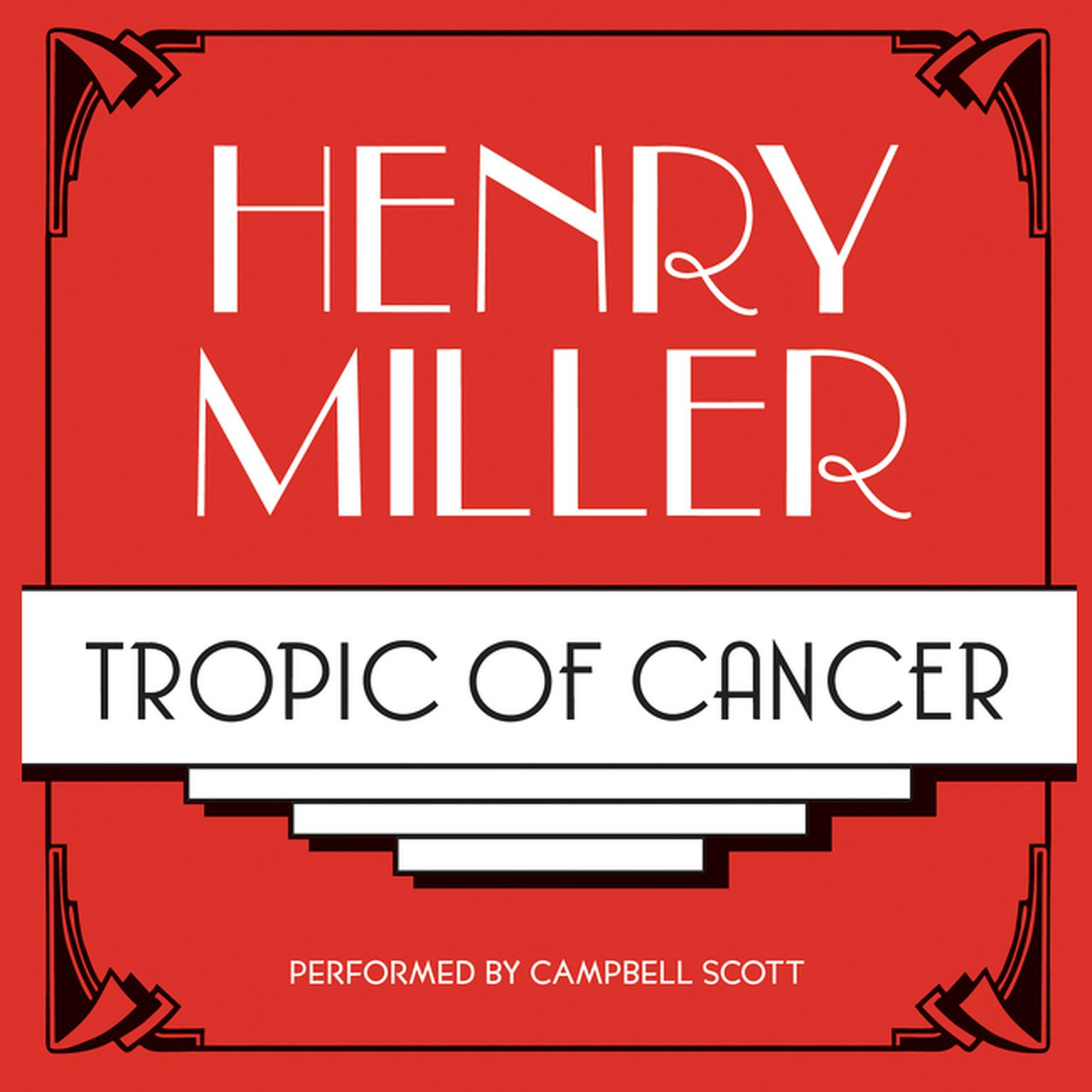 Printable Tropic of Cancer Audiobook Cover Art
