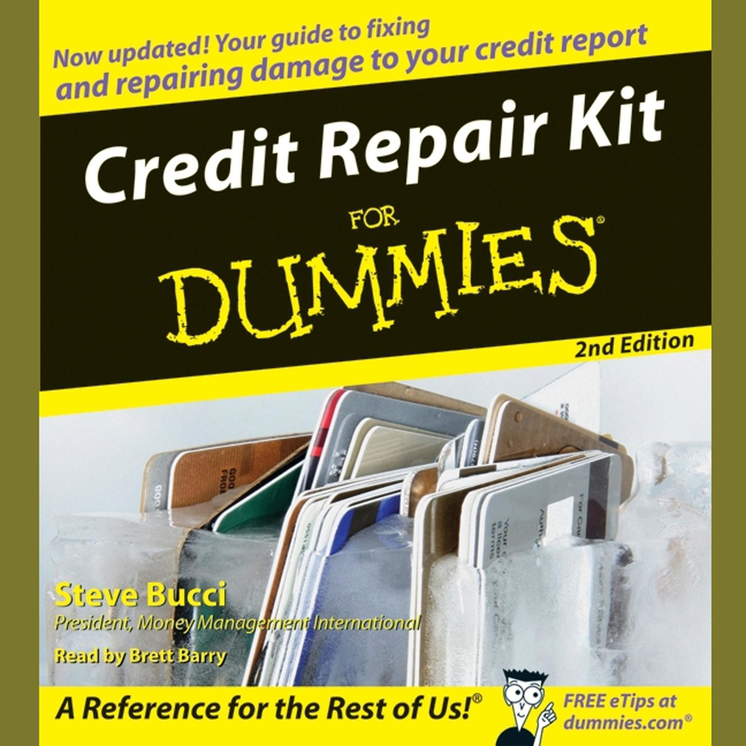 Printable Credit Repair Kit for Dummies Audiobook Cover Art