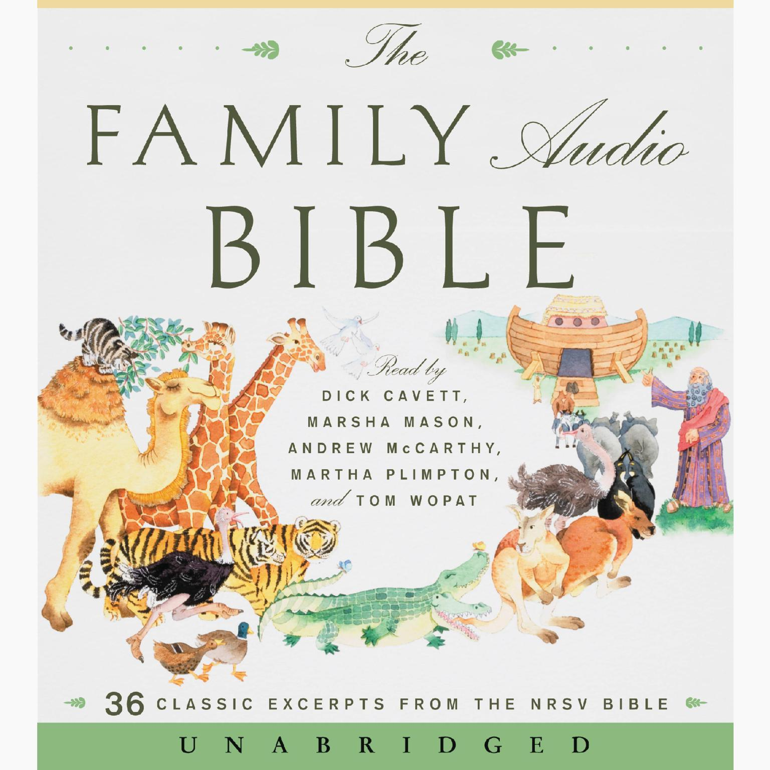 Printable The Family Audio Bible Audiobook Cover Art