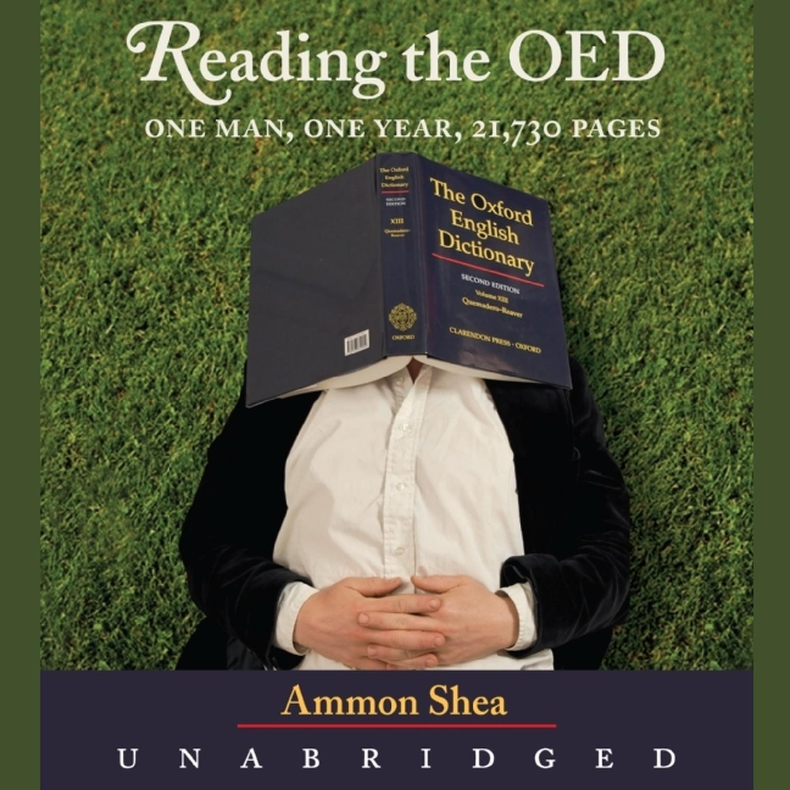 Printable Reading the OED: One Man, One Year, 21,730 Pages Audiobook Cover Art