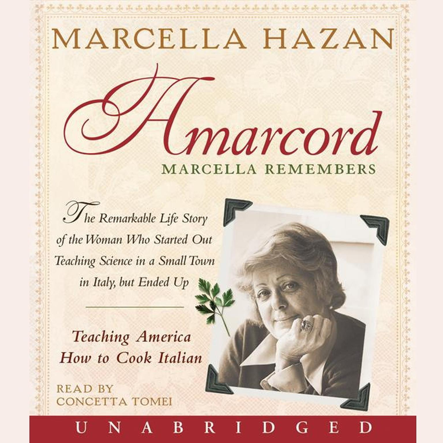 Printable Amarcord: Marcella Remembers Audiobook Cover Art