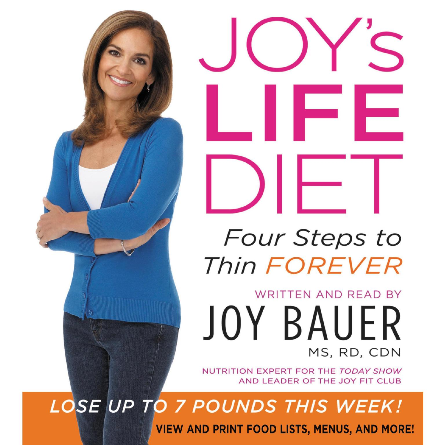 Printable Joy's LIFE Diet: Four Steps to Thin Forever Audiobook Cover Art