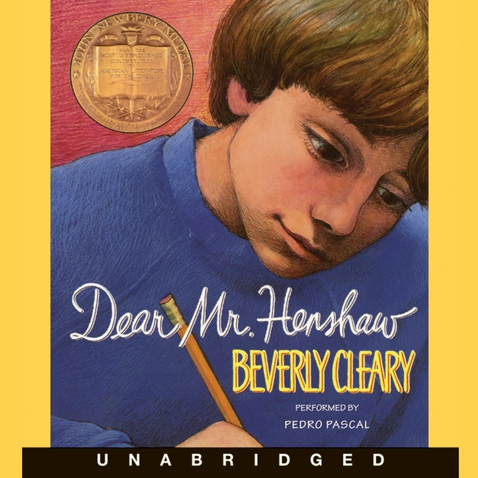 Printable Dear Mr. Henshaw Audiobook Cover Art