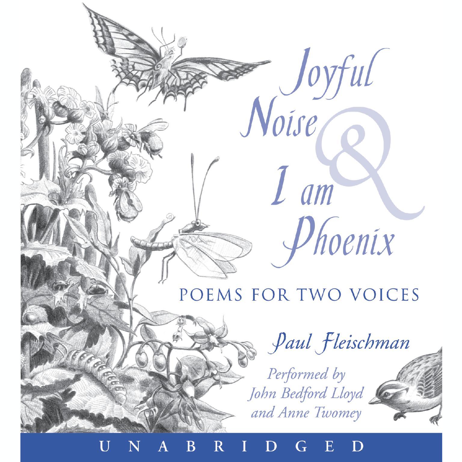Printable Joyful Noise and I Am Phoenix Audiobook Cover Art