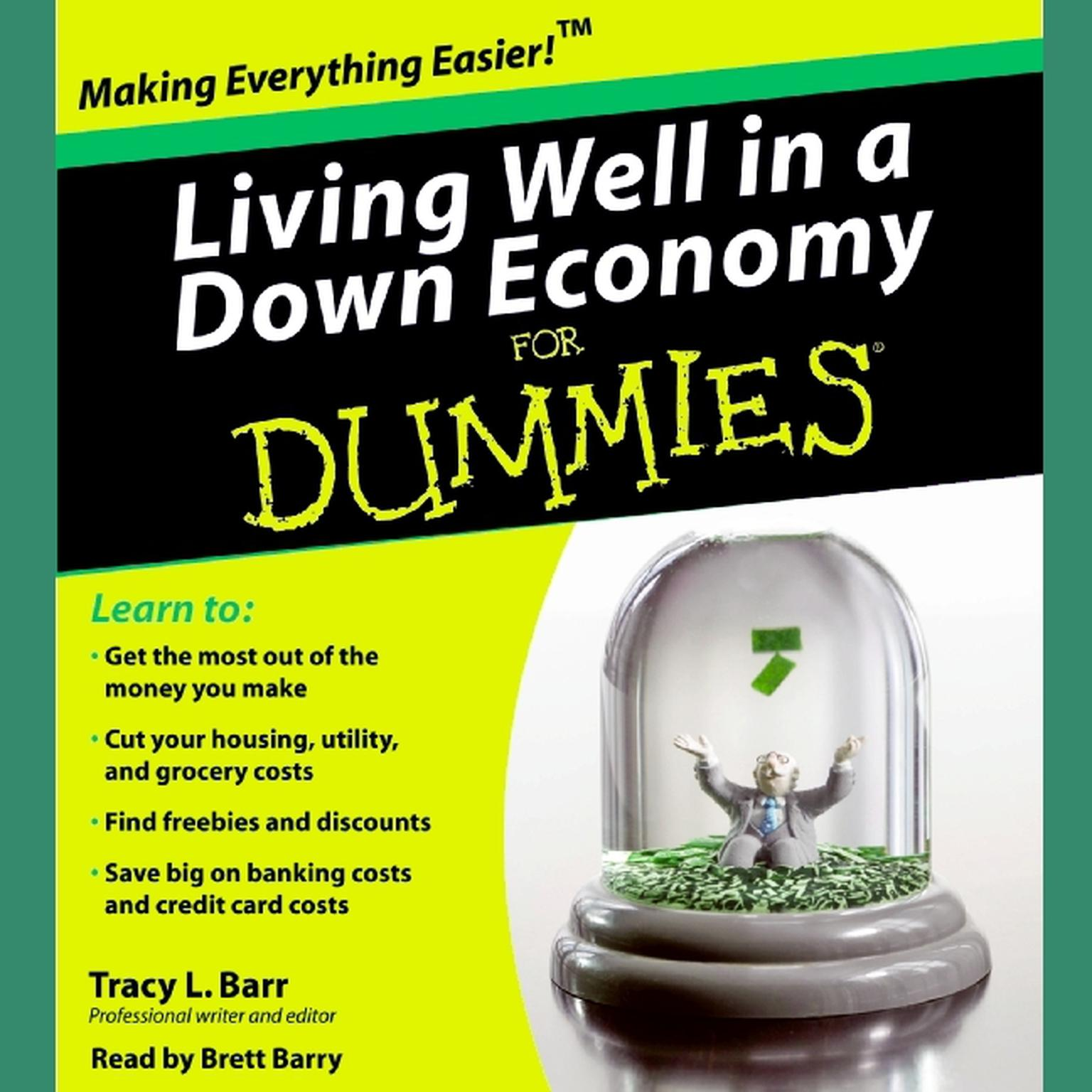 Printable Living Well in a Down Economy for Dummies Audiobook Cover Art