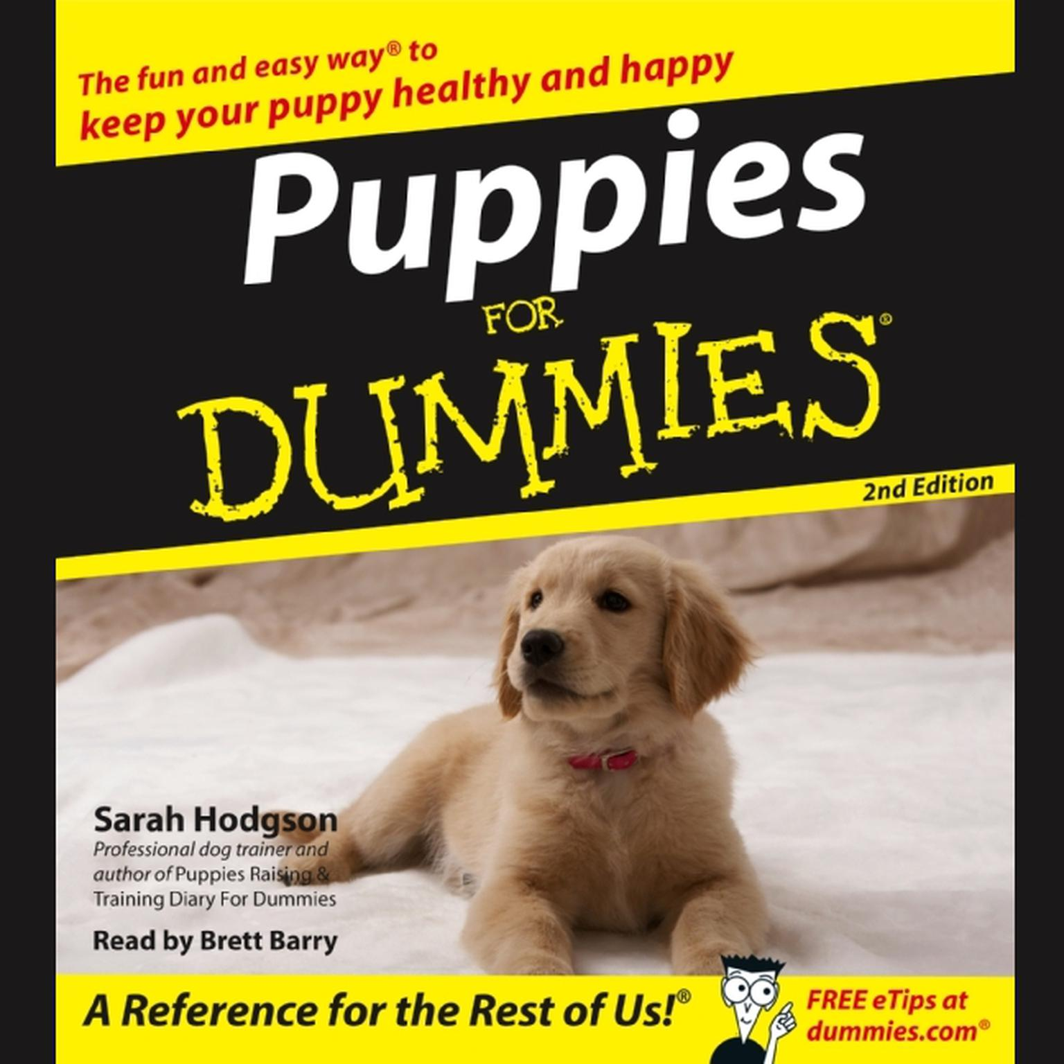 Printable Puppies For Dummies Audiobook Cover Art