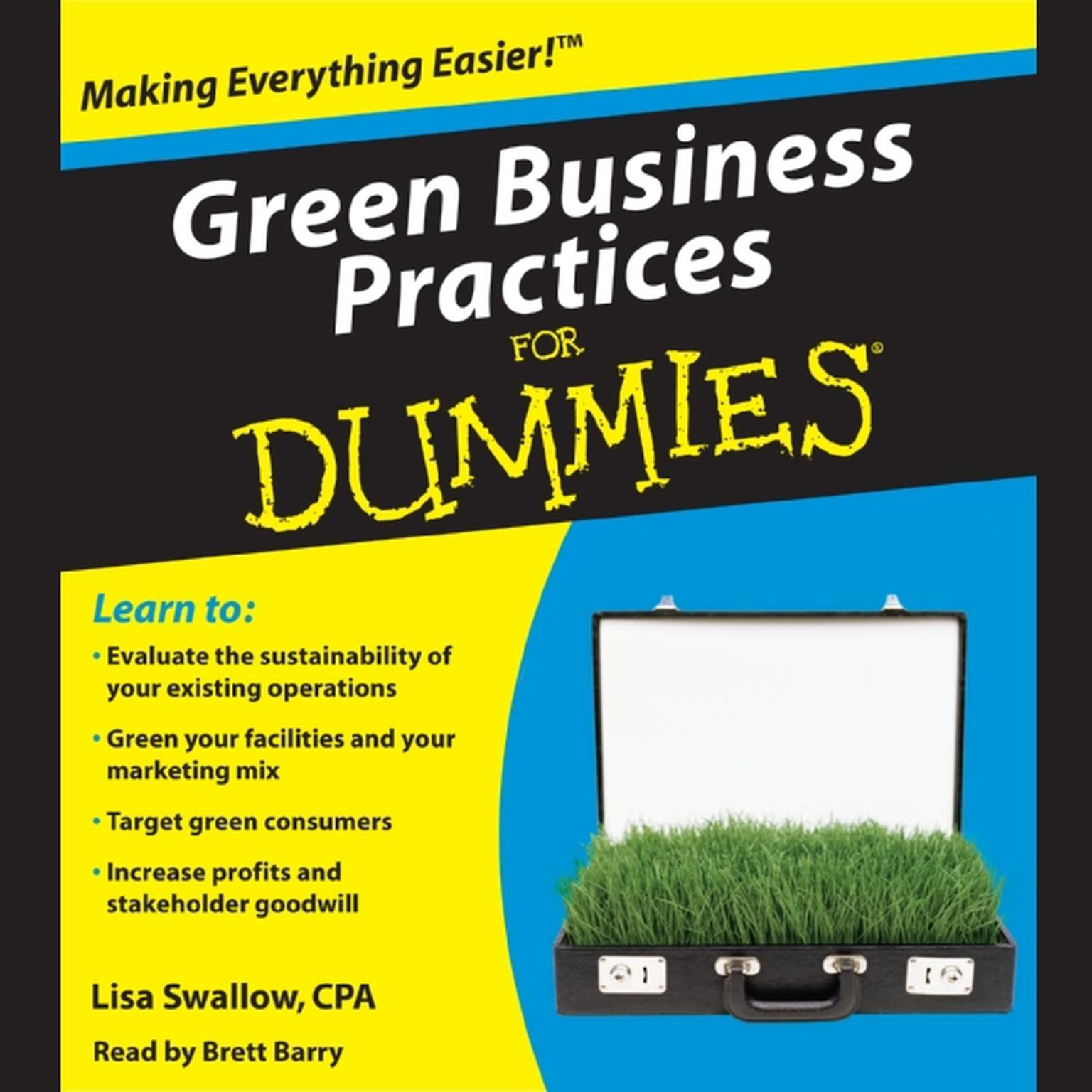 Printable Green Business Practices for Dummies Audiobook Cover Art