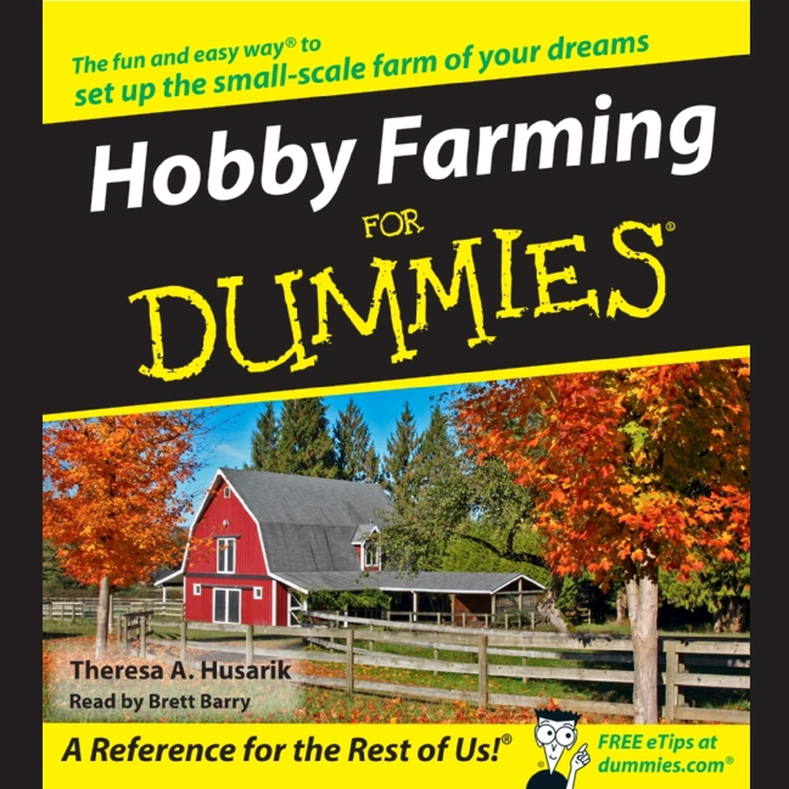 Printable Hobby Farming for Dummies Audiobook Cover Art