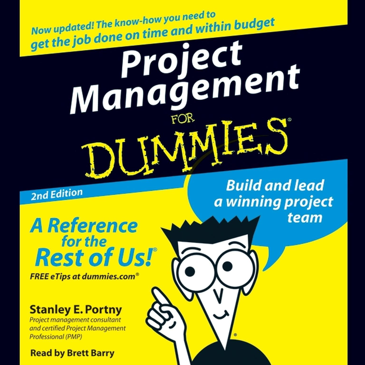 Printable Project Management For Dummies Audiobook Cover Art