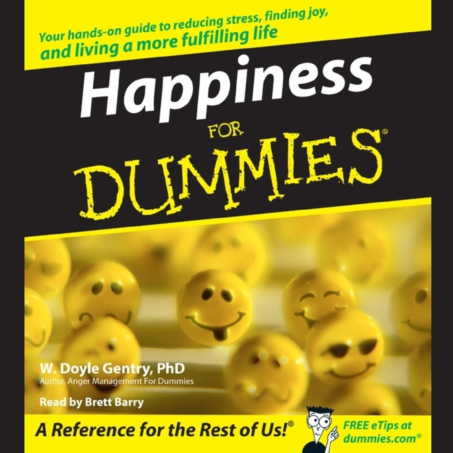 Printable Happiness for Dummies Audiobook Cover Art