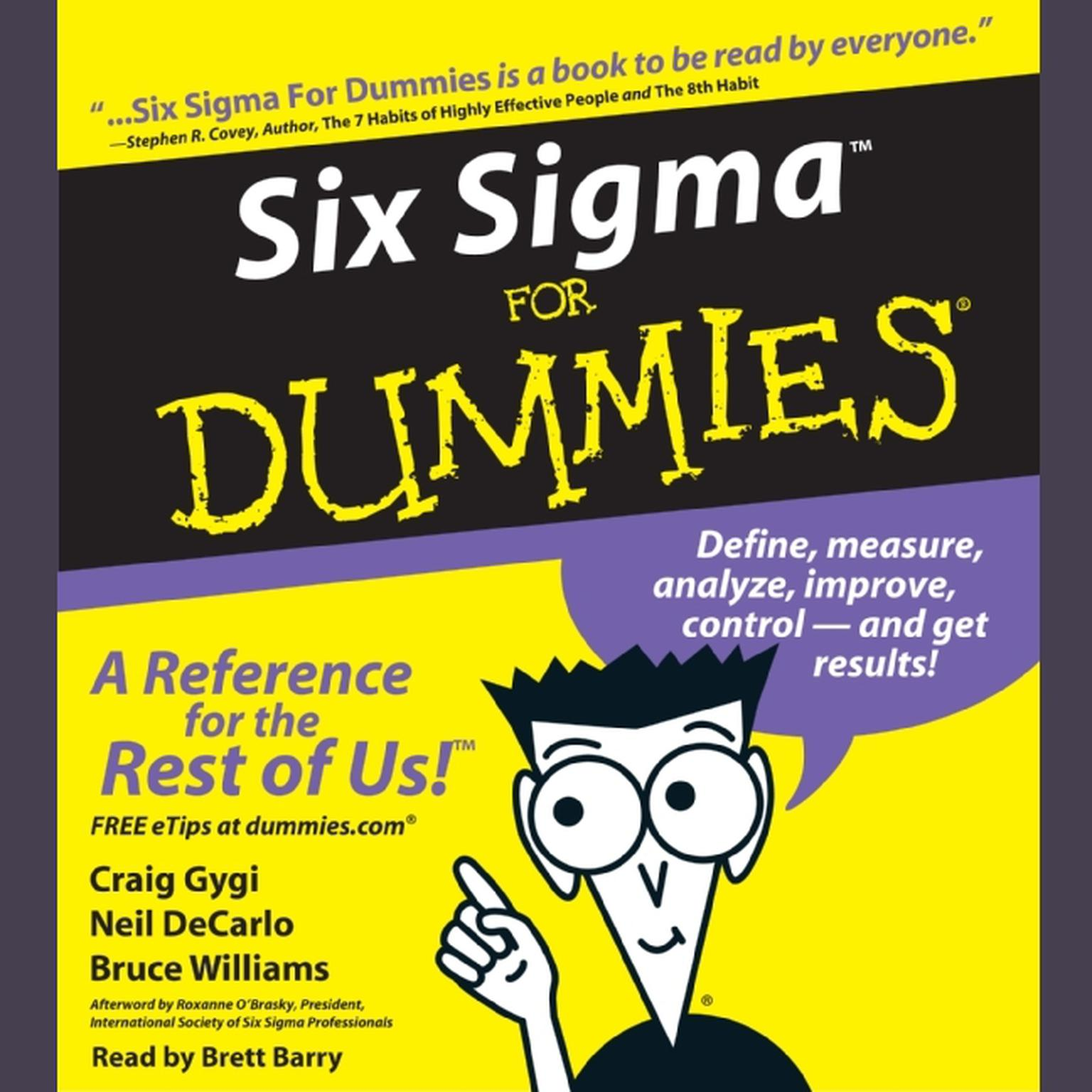 Printable Six Sigma For Dummies Audiobook Cover Art