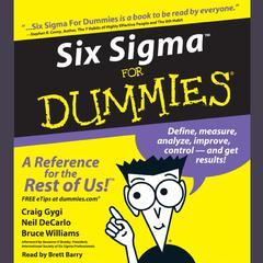 Six Sigma For Dummies Audiobook, by Bruce Williams, Craig Gygi, Neil DeCarlo