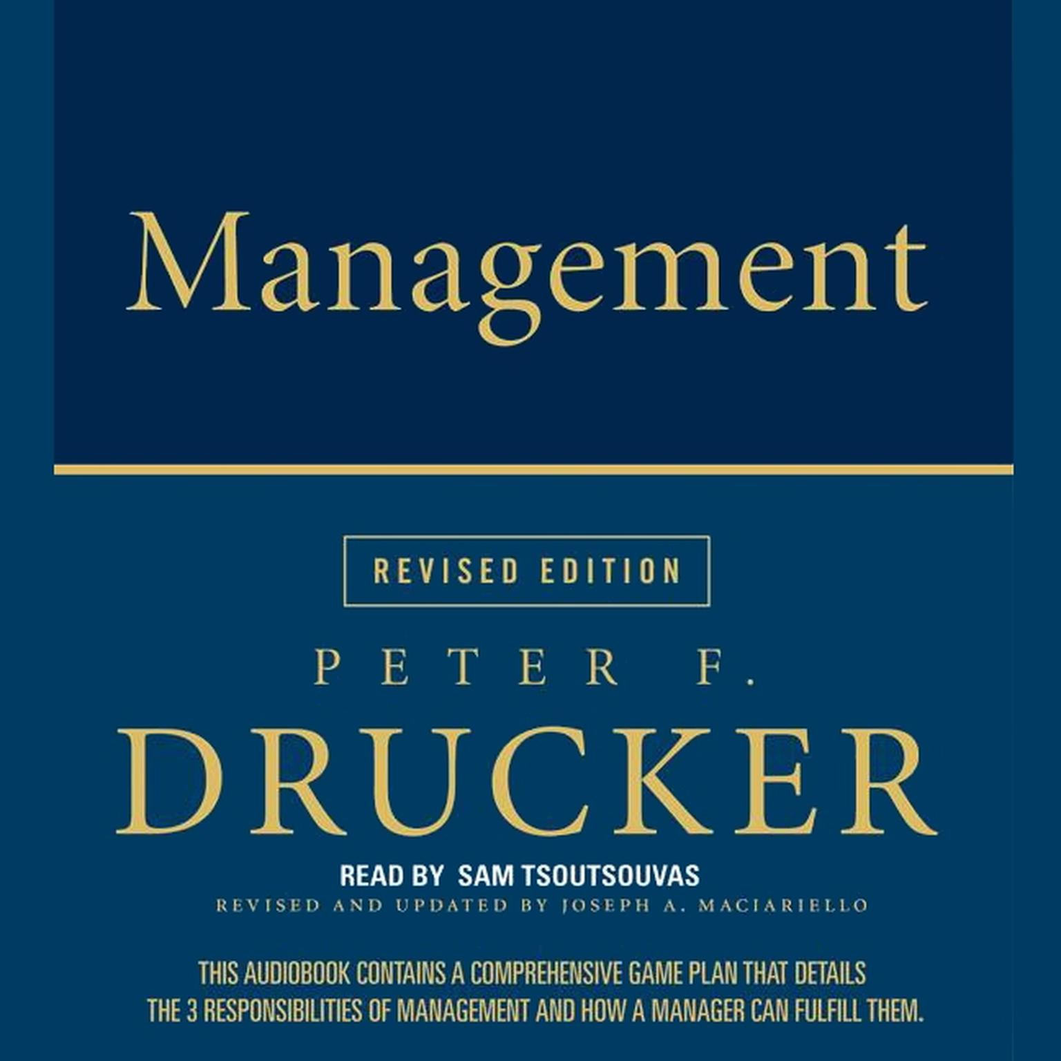 Printable Management Audiobook Cover Art