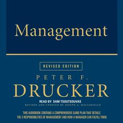 Management Rev Ed Audiobook, by Peter F. Drucker