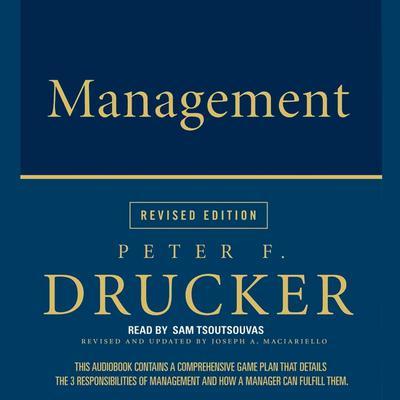 Management Rev Ed Audiobook, by Peter F. Drucker