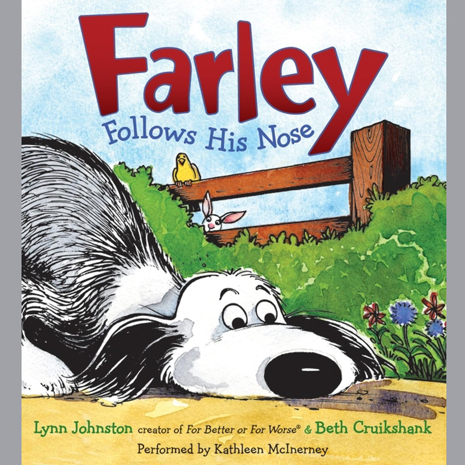 Printable Farley Follows His Nose Audiobook Cover Art