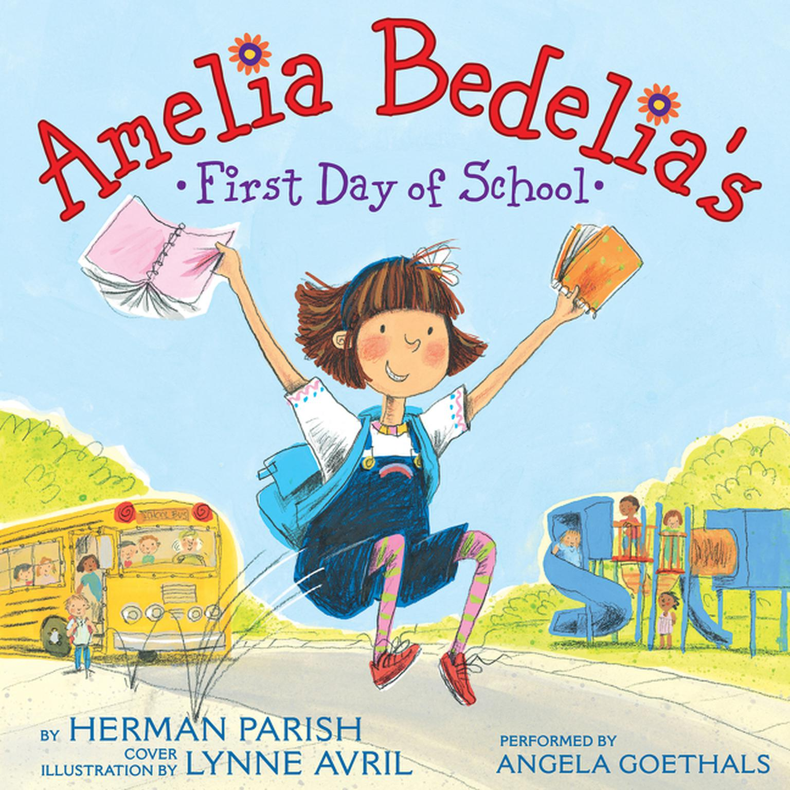 Printable Amelia Bedelia's First Day of School Audiobook Cover Art