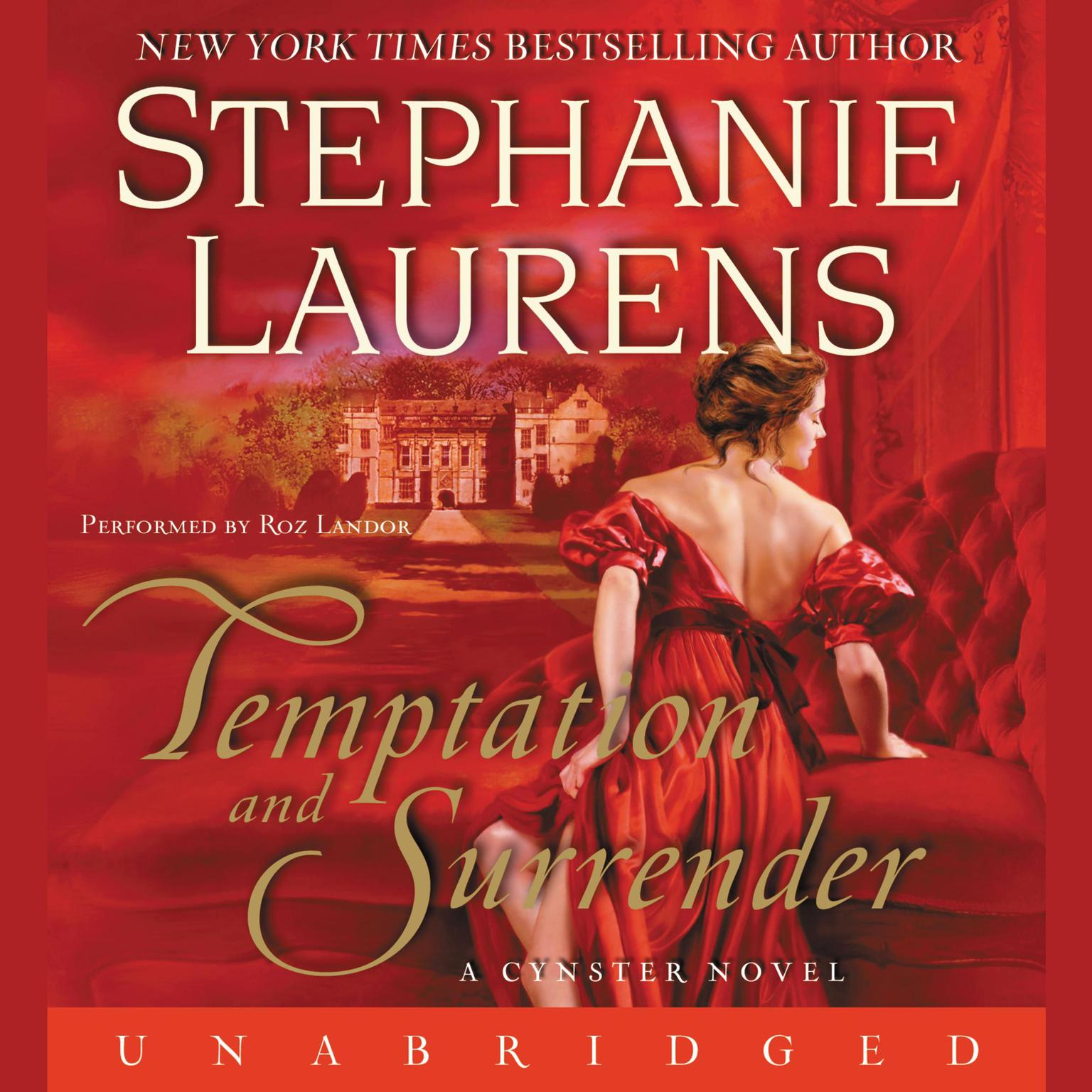 Printable Temptation and Surrender Audiobook Cover Art