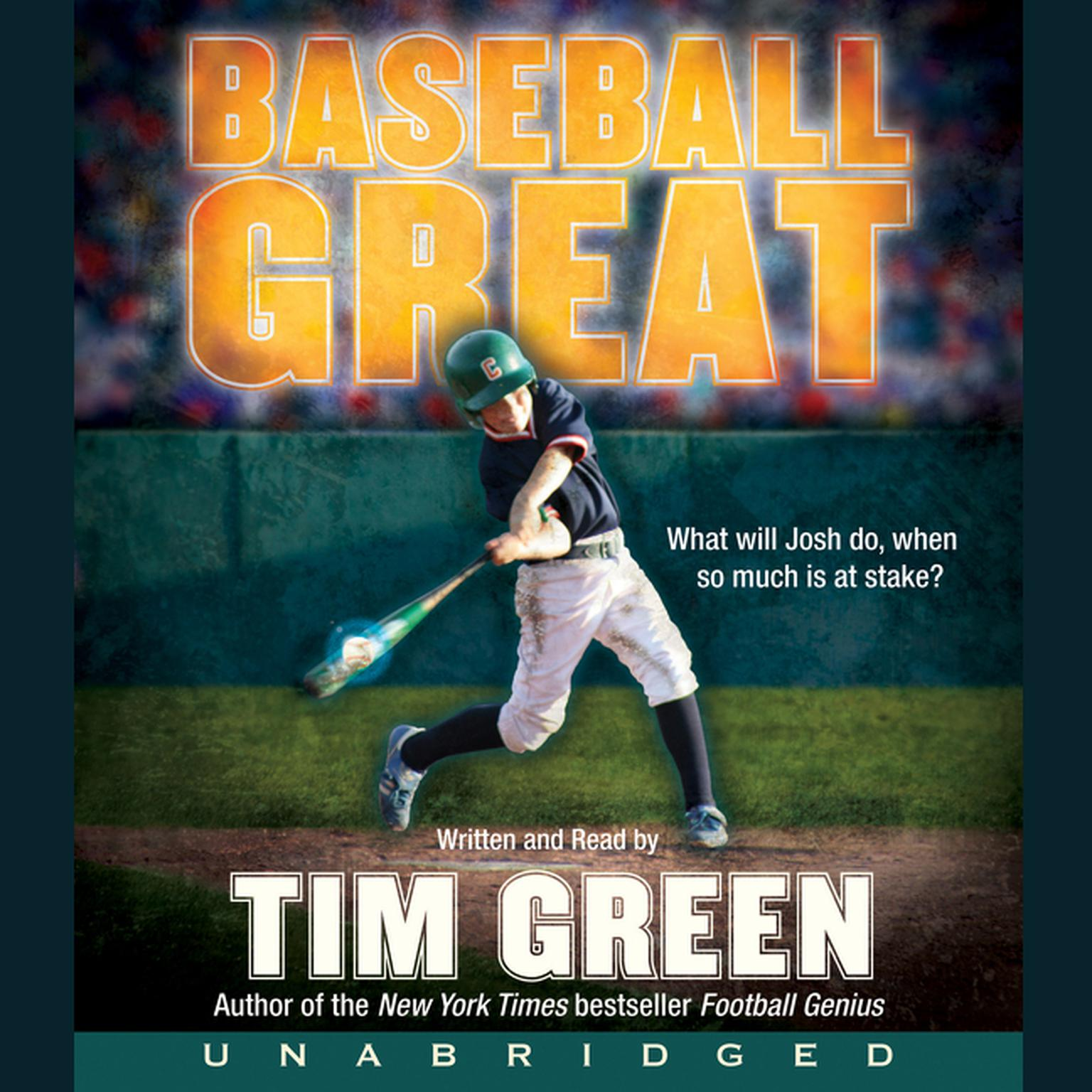 Printable Baseball Great Audiobook Cover Art