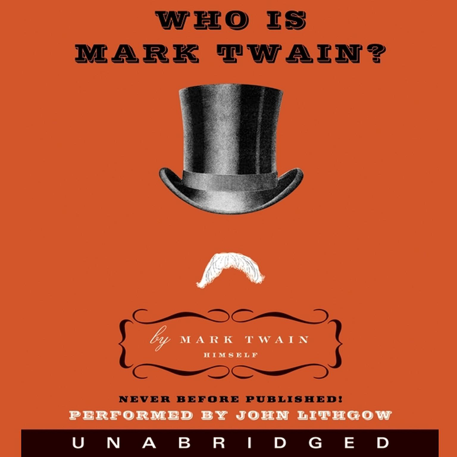 Printable Who Is Mark Twain? Audiobook Cover Art
