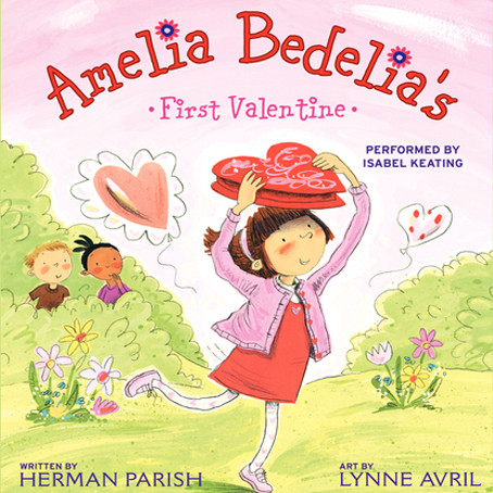Printable Amelia Bedelia's First Valentine Audiobook Cover Art