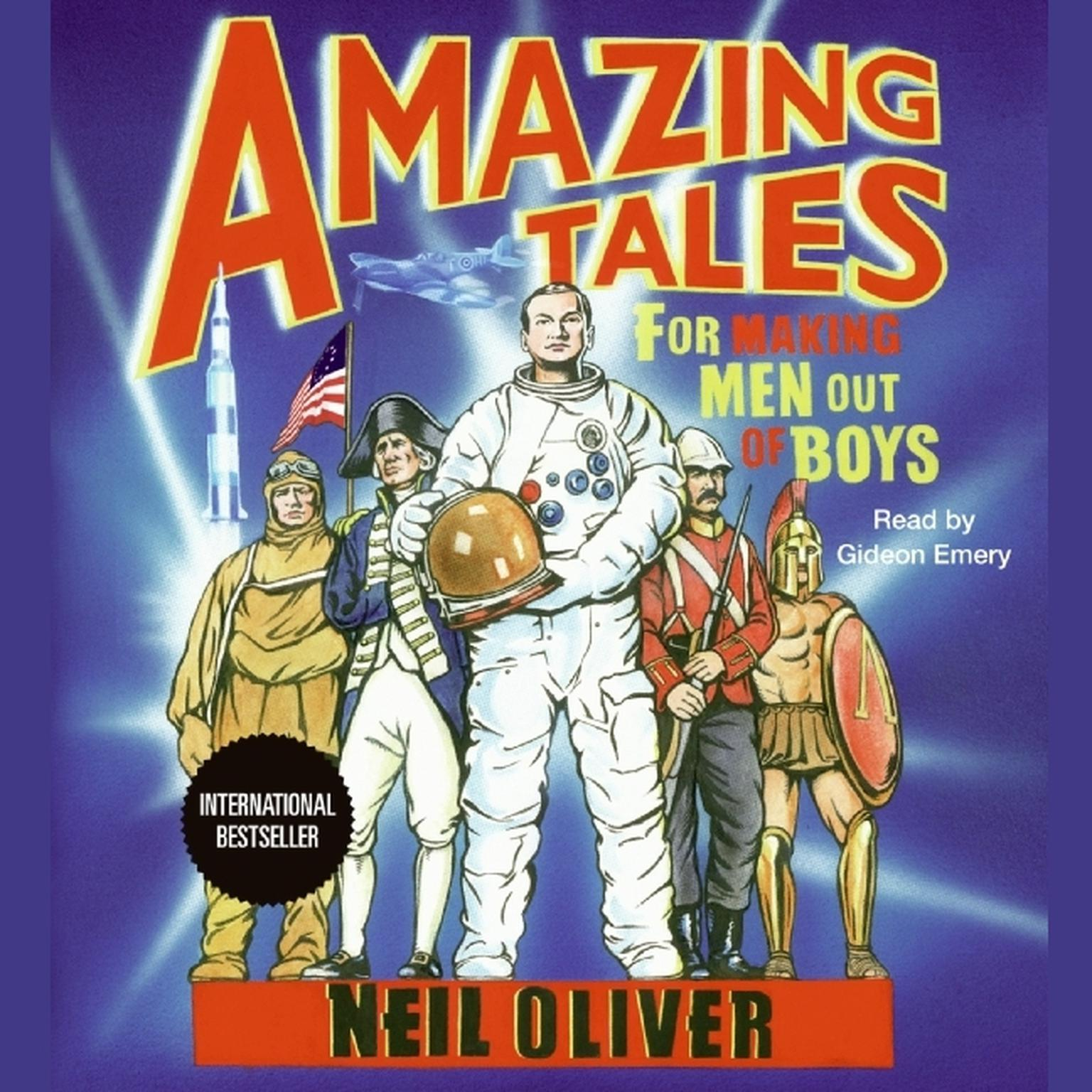 Printable Amazing Tales for Making Men Out of Boys Audiobook Cover Art
