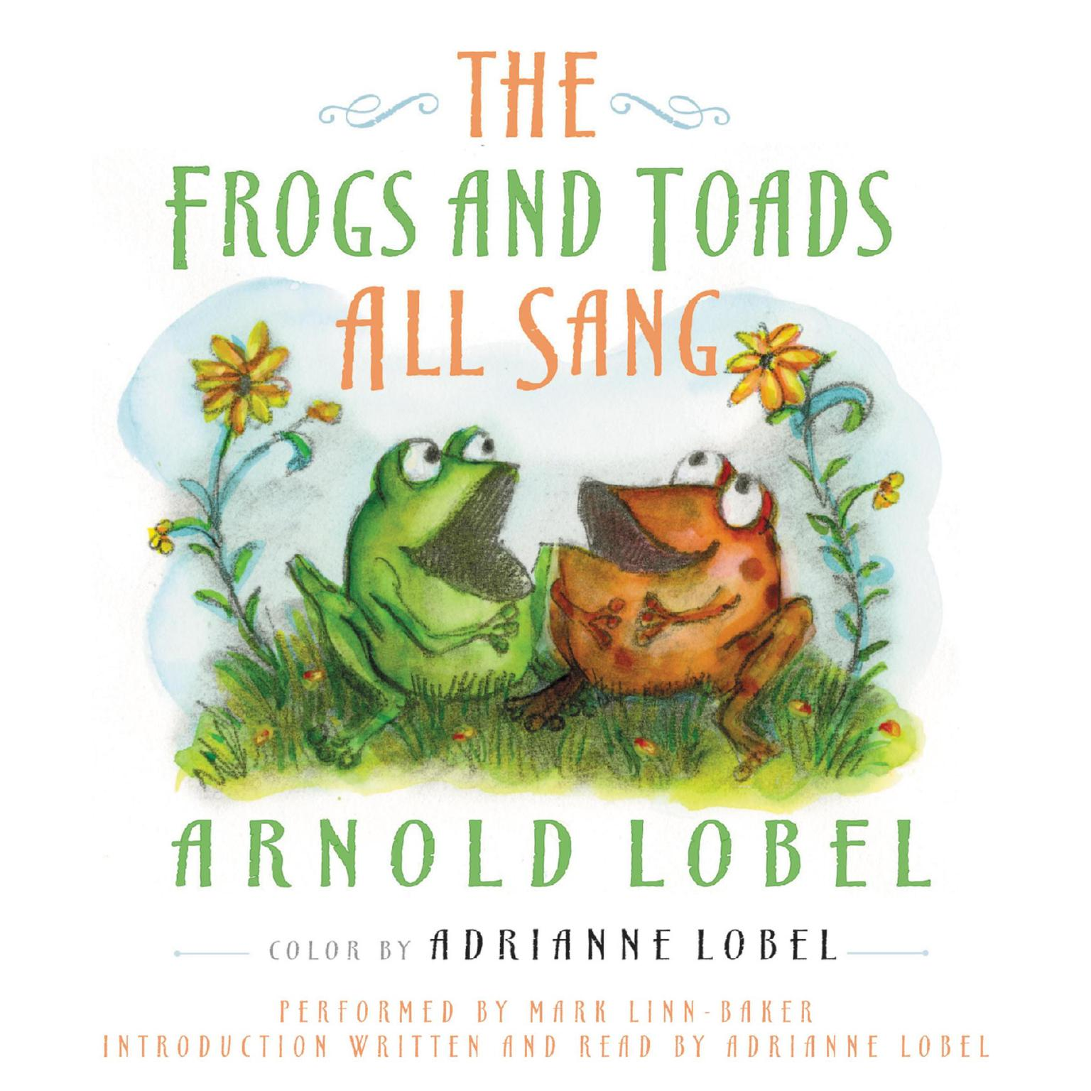 Printable The Frogs and Toads All Sang Audiobook Cover Art