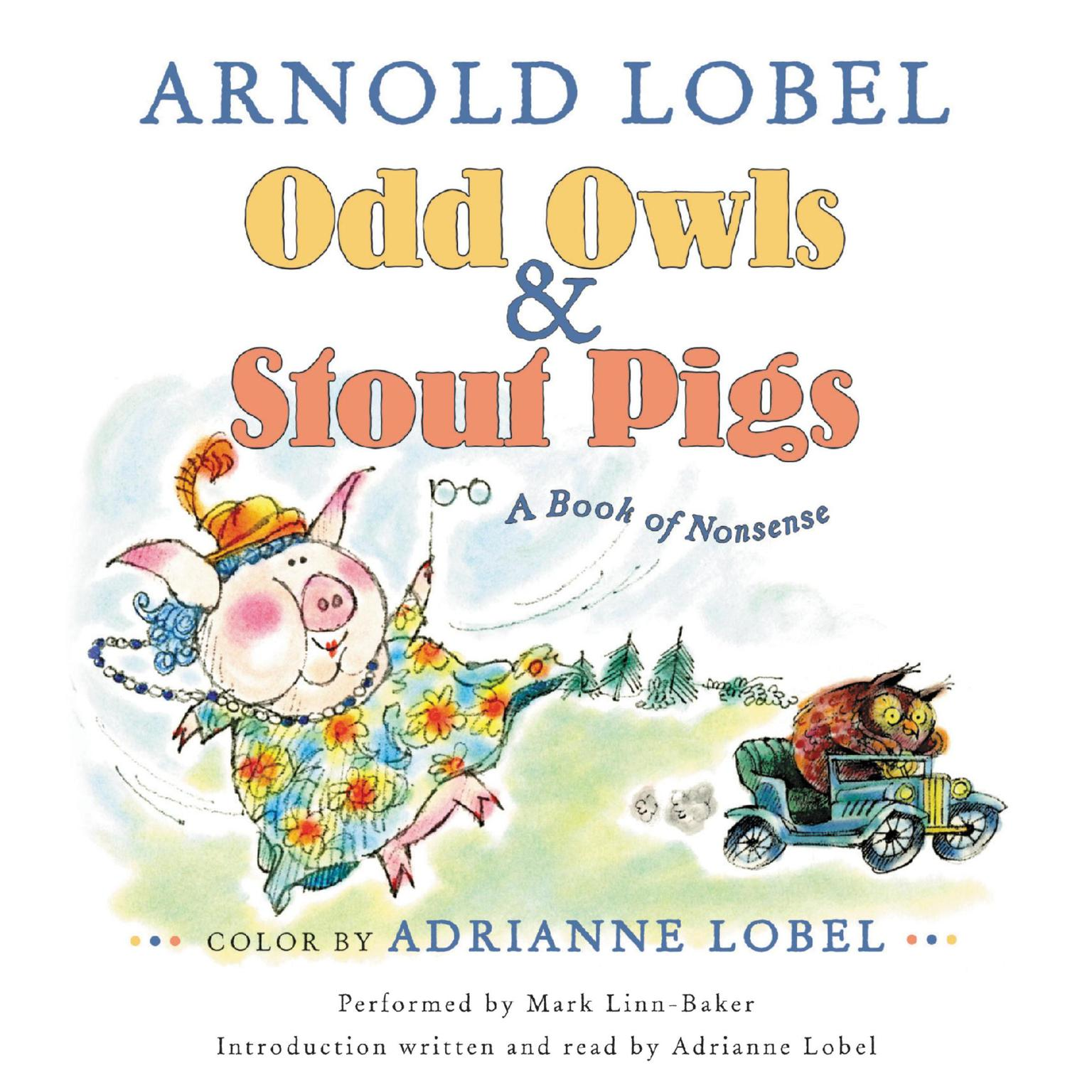 Printable Odd Owls & Stout Pigs: A Book of Nonsense Audiobook Cover Art
