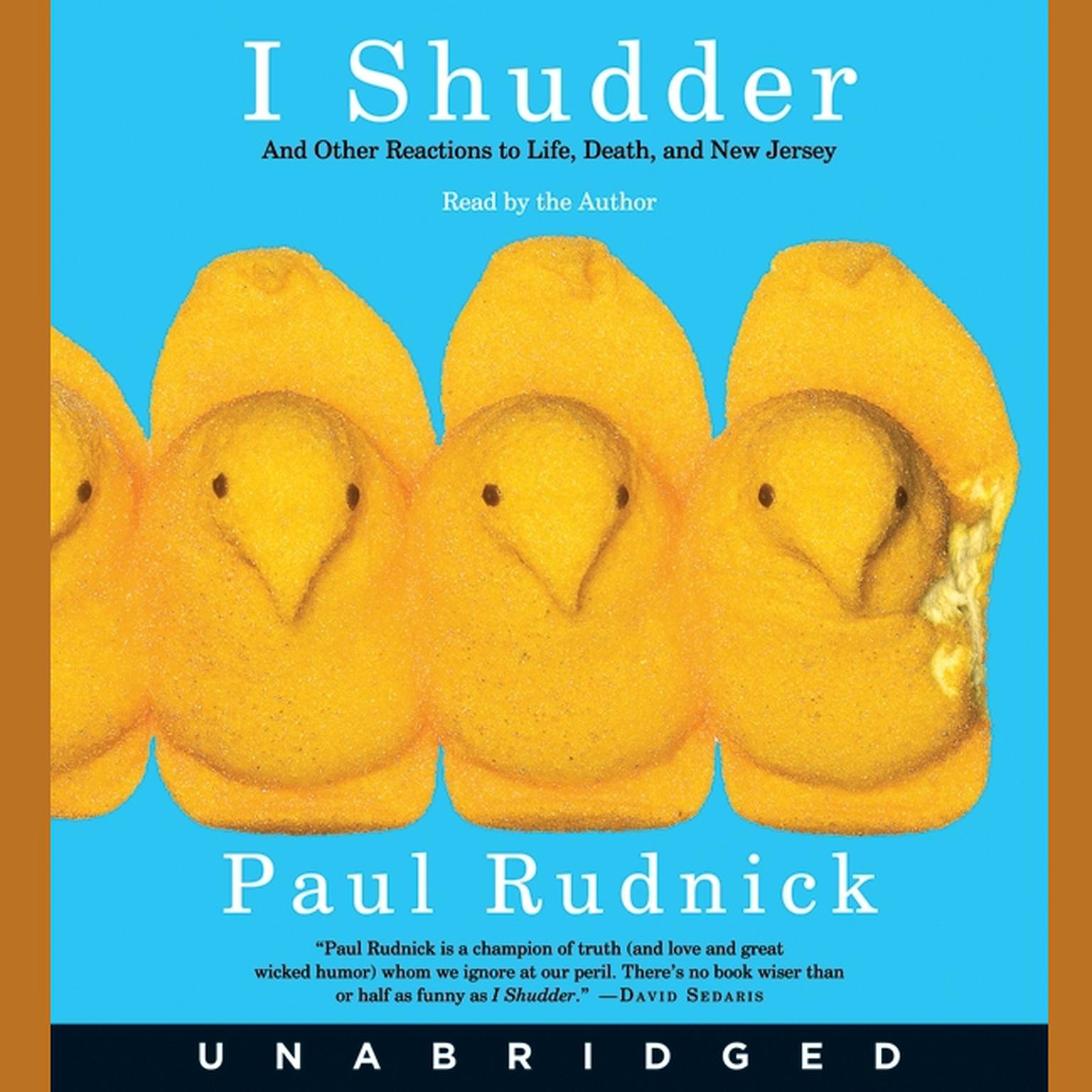 Printable I Shudder: And Other Reactions to Life, Death, and New Jersey Audiobook Cover Art