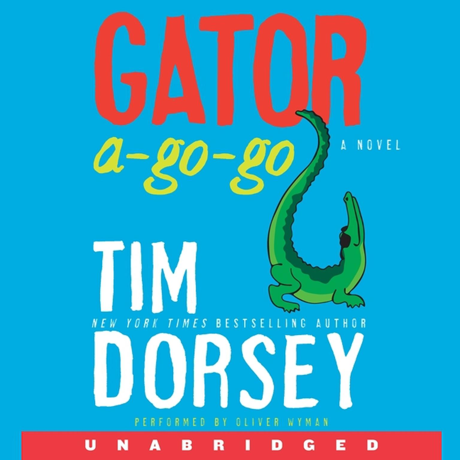 Printable Gator A-Go-Go: A Novel Audiobook Cover Art