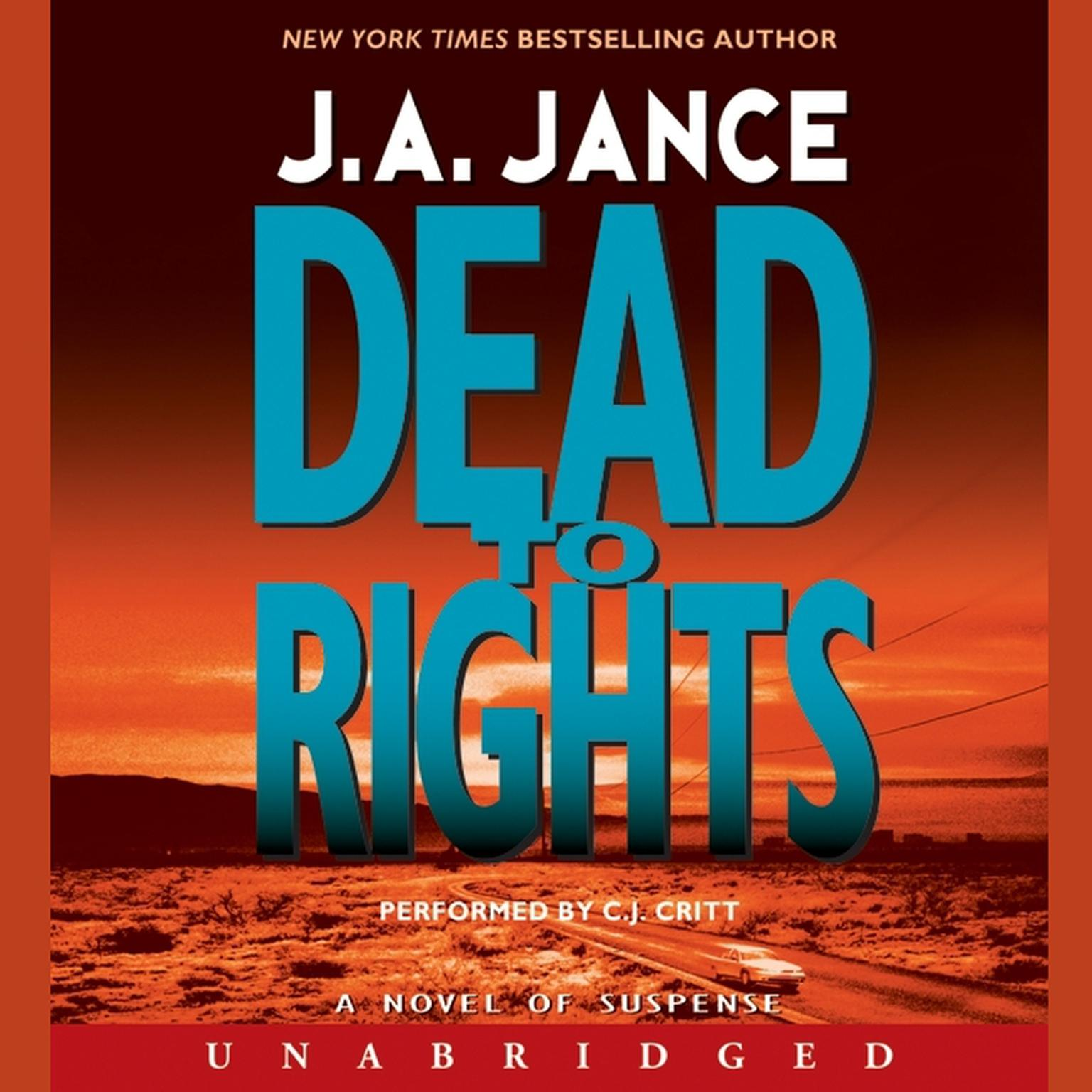 Printable Dead to Rights Audiobook Cover Art