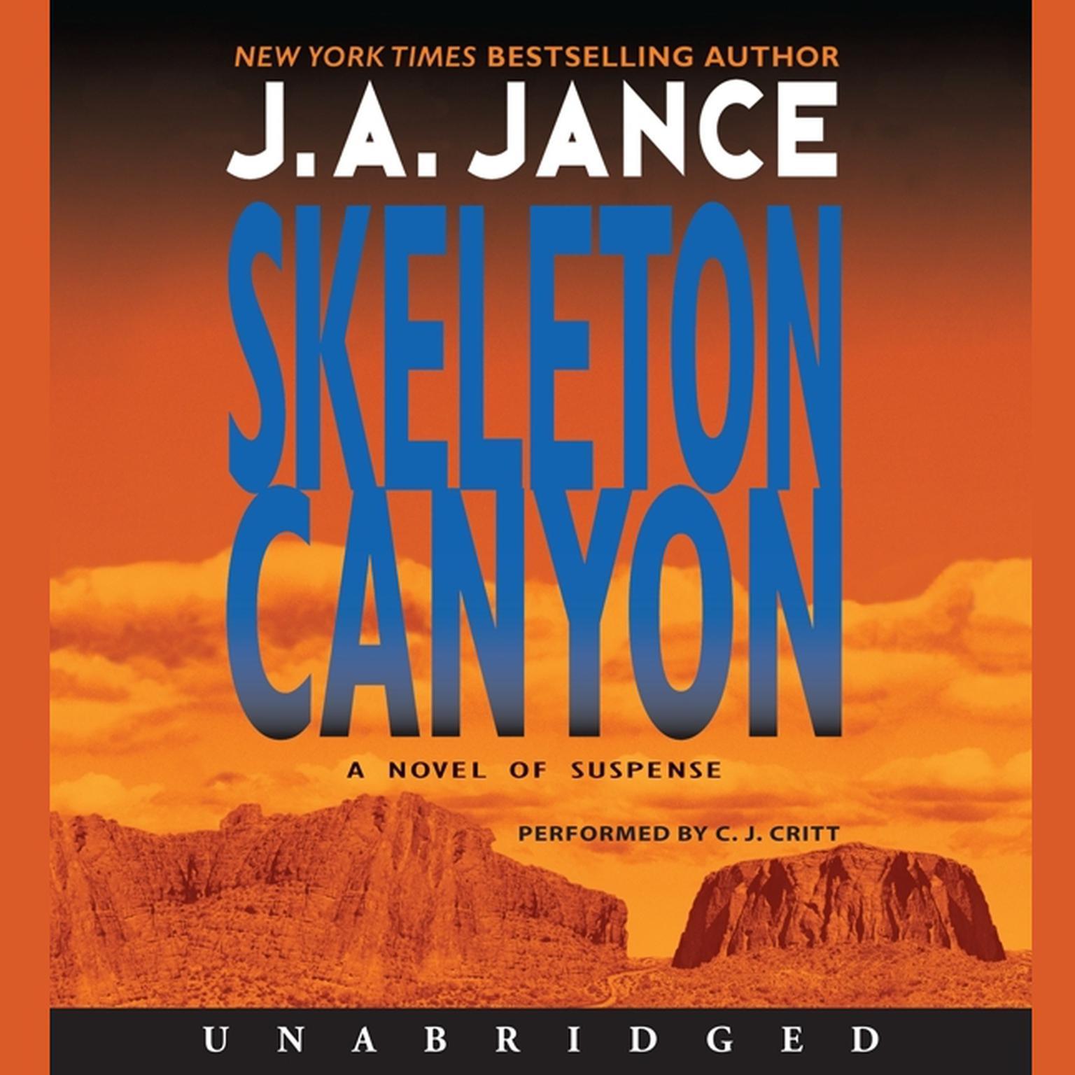Printable Skeleton Canyon Audiobook Cover Art