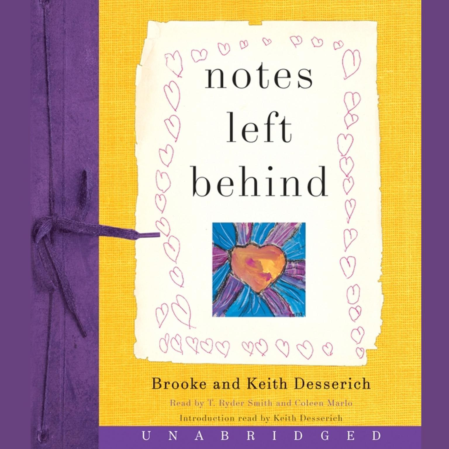 Printable Notes Left Behind Audiobook Cover Art