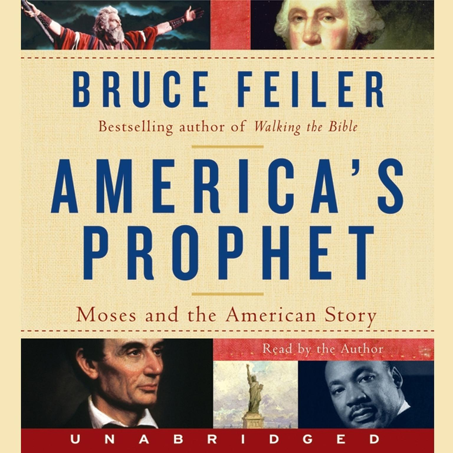 Printable America's Prophet: Moses and the American Story Audiobook Cover Art