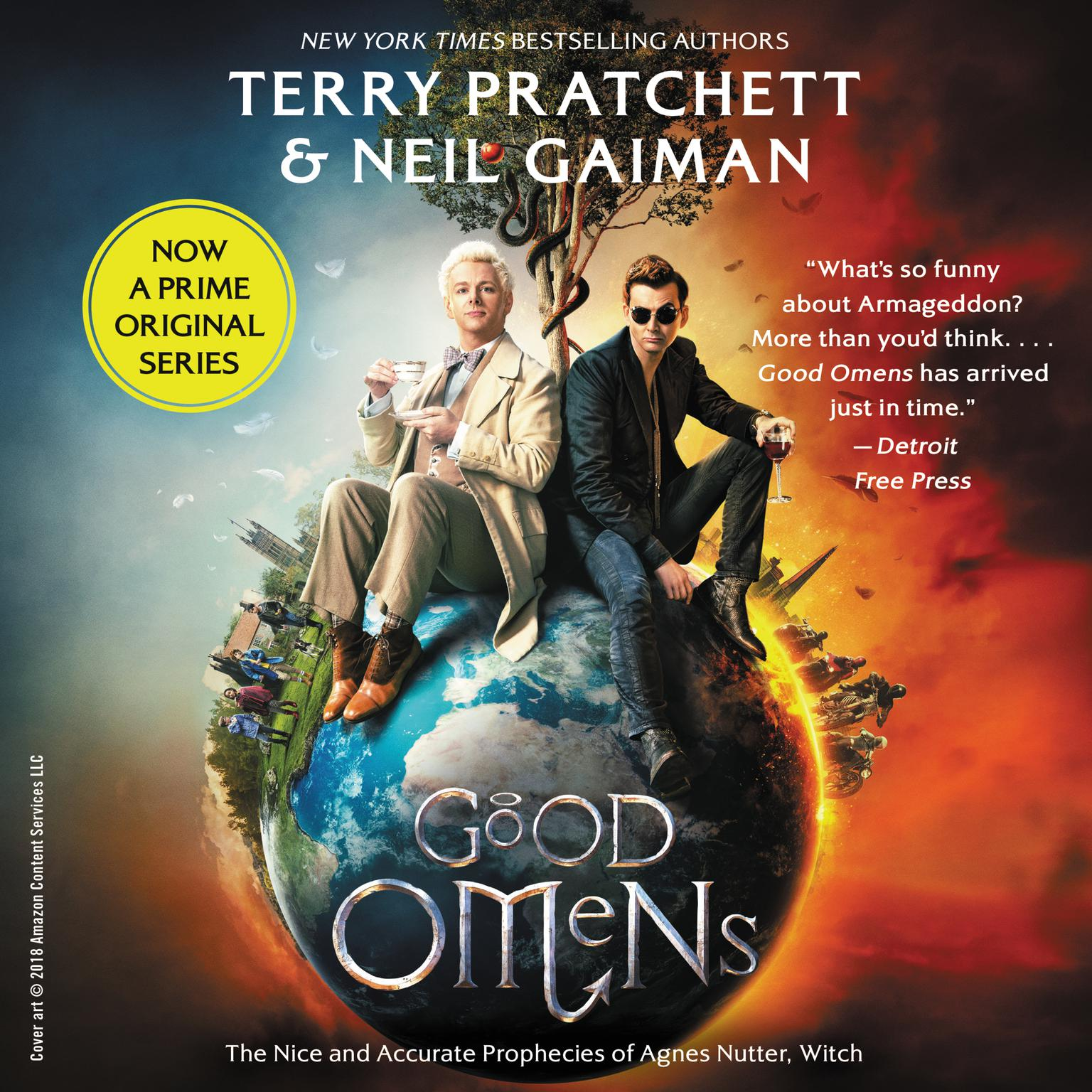 Printable Good Omens: The Nice and Accurate Prophecies of Agnes Nutter, Witch Audiobook Cover Art