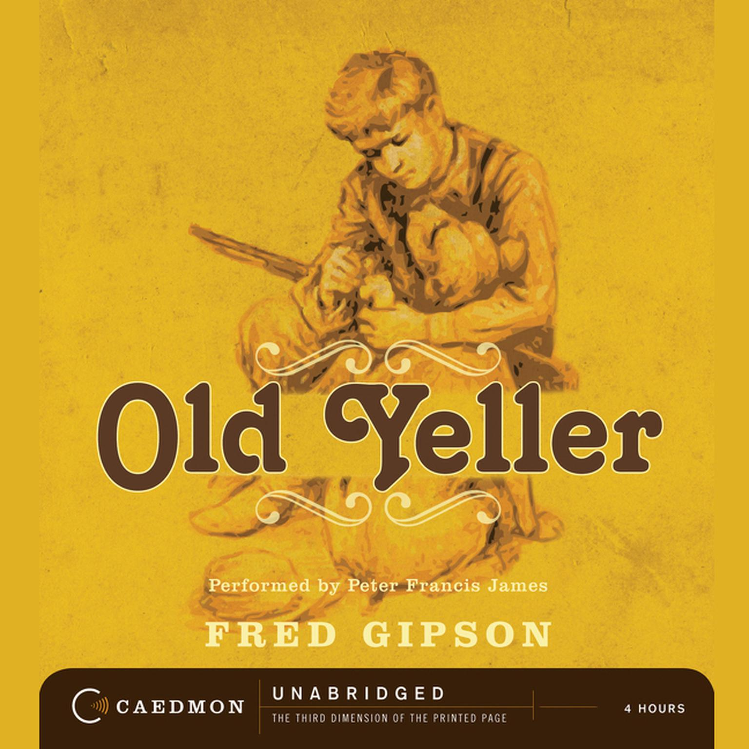 Printable Old Yeller Audiobook Cover Art