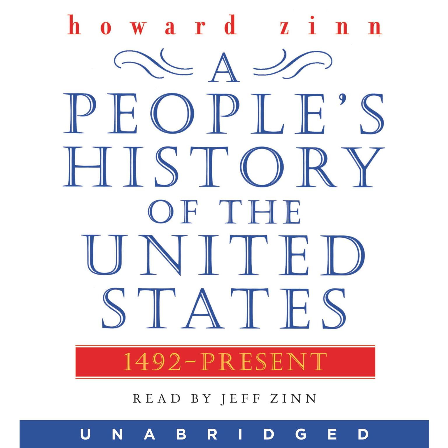 Printable A People's History of the United States: 1492 to Present Audiobook Cover Art