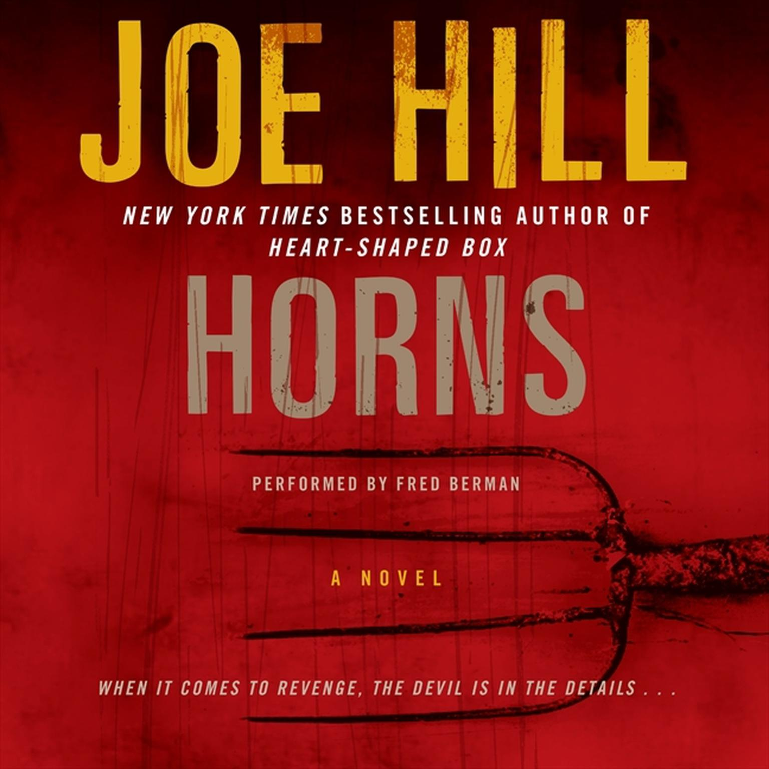 Printable Horns: A Novel Audiobook Cover Art