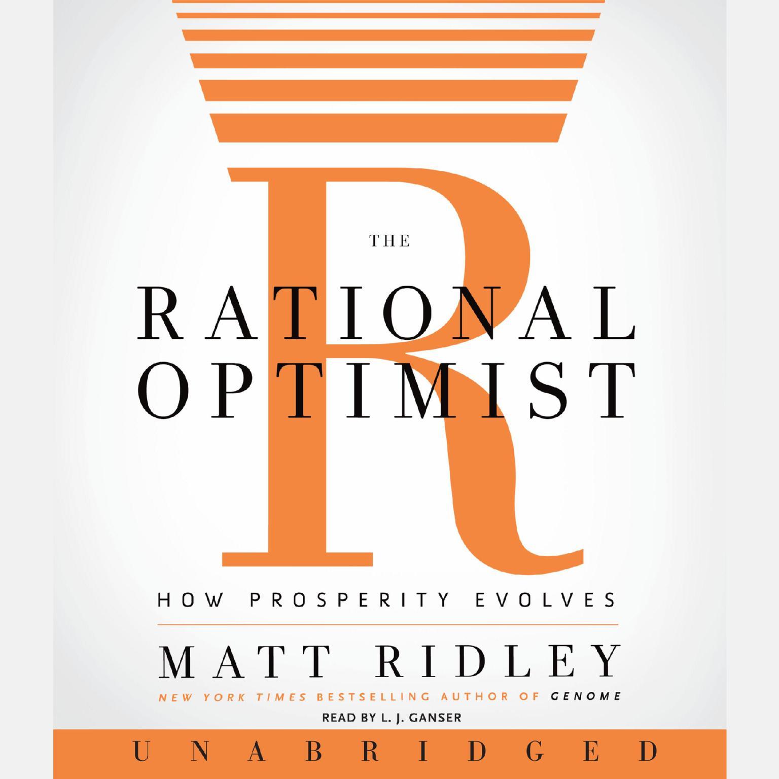 Printable The Rational Optimist: How Prosperity Evolves Audiobook Cover Art