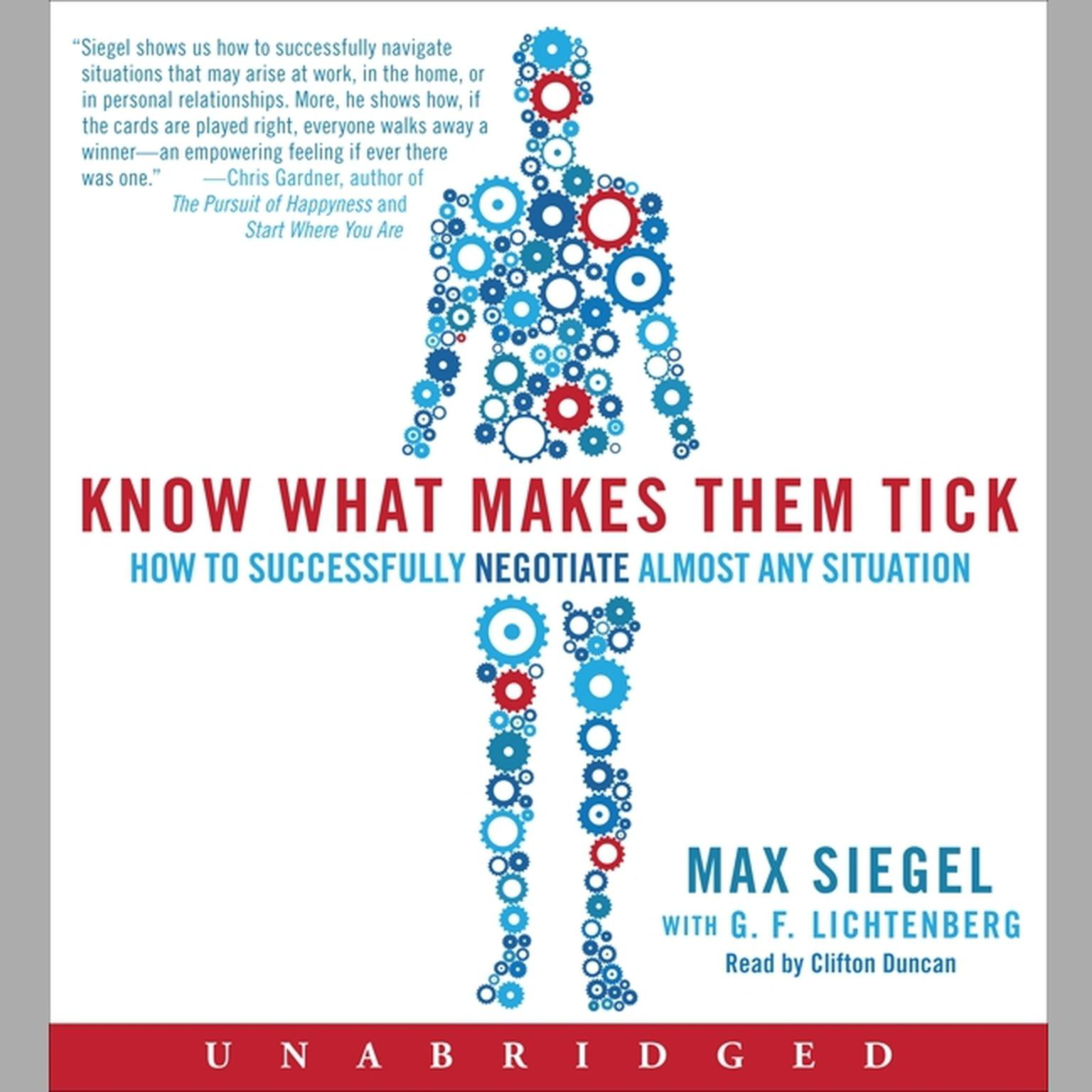 Printable Know What Makes Them Tick: How to Successfully Negotiate Almost Any Situation Audiobook Cover Art