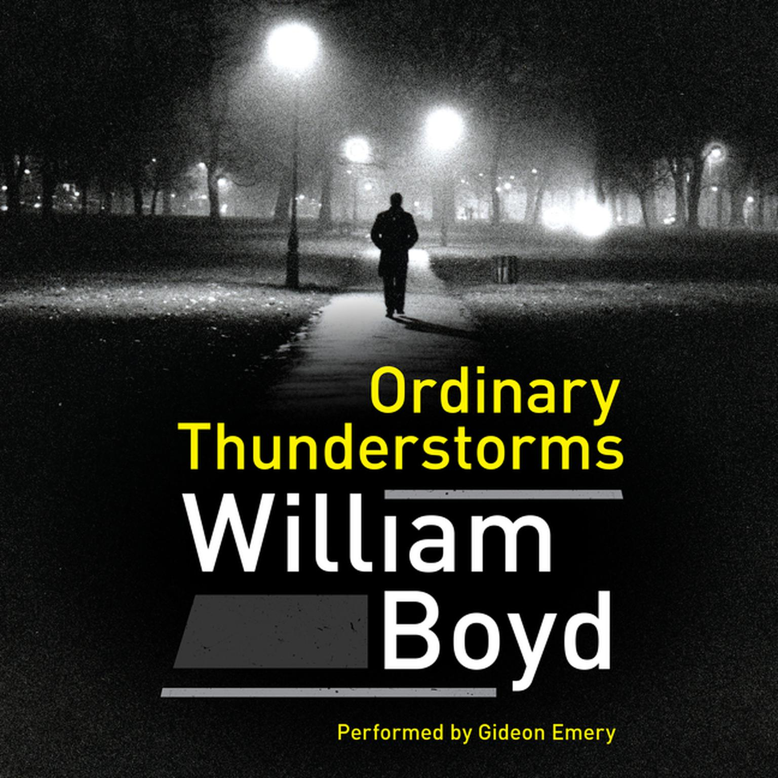 Printable Ordinary Thunderstorms: A Novel Audiobook Cover Art