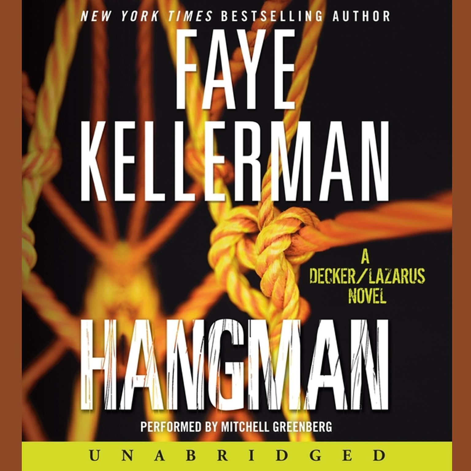 Printable Hangman: A Decker/Lazarus Novel Audiobook Cover Art