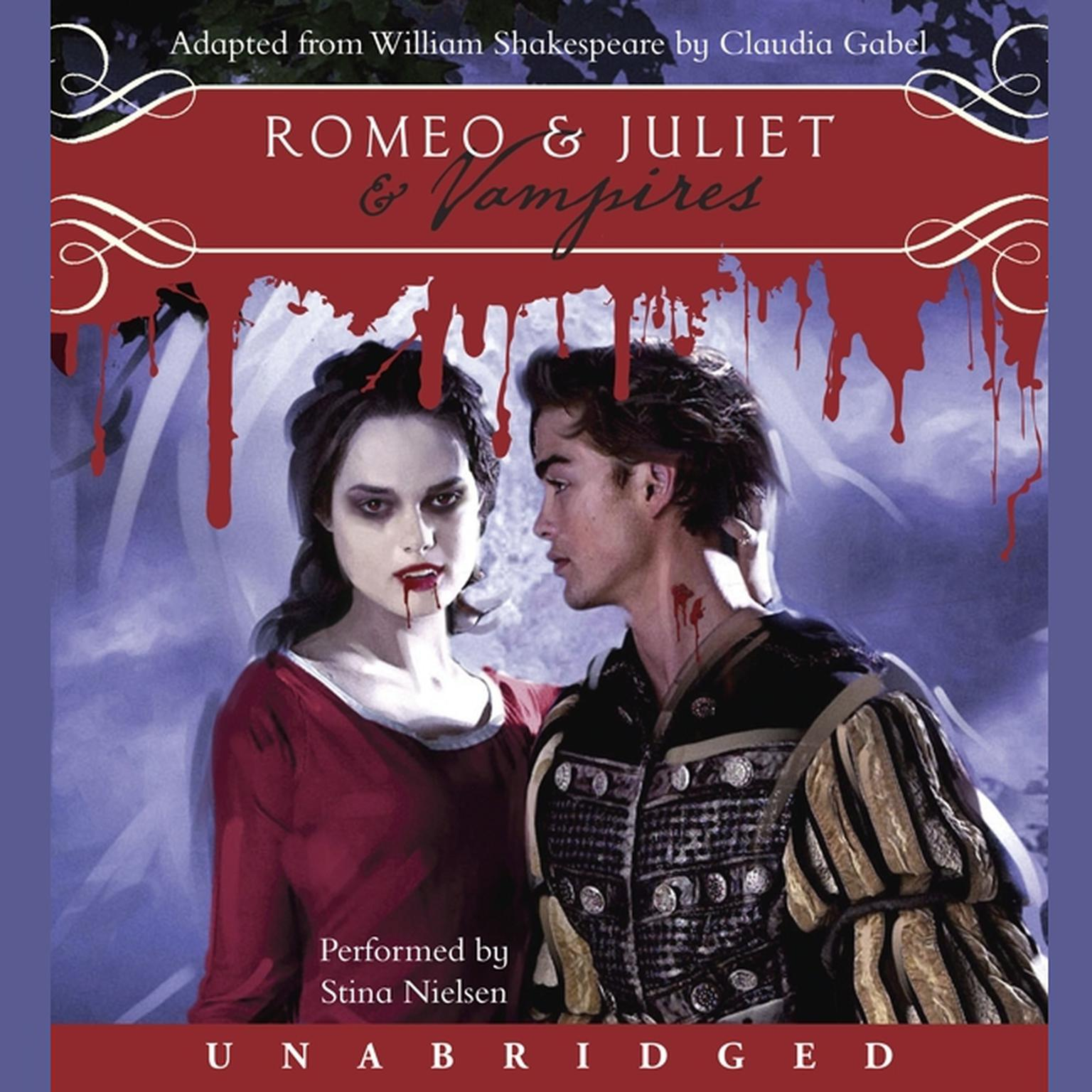 Printable Romeo & Juliet & Vampires Audiobook Cover Art