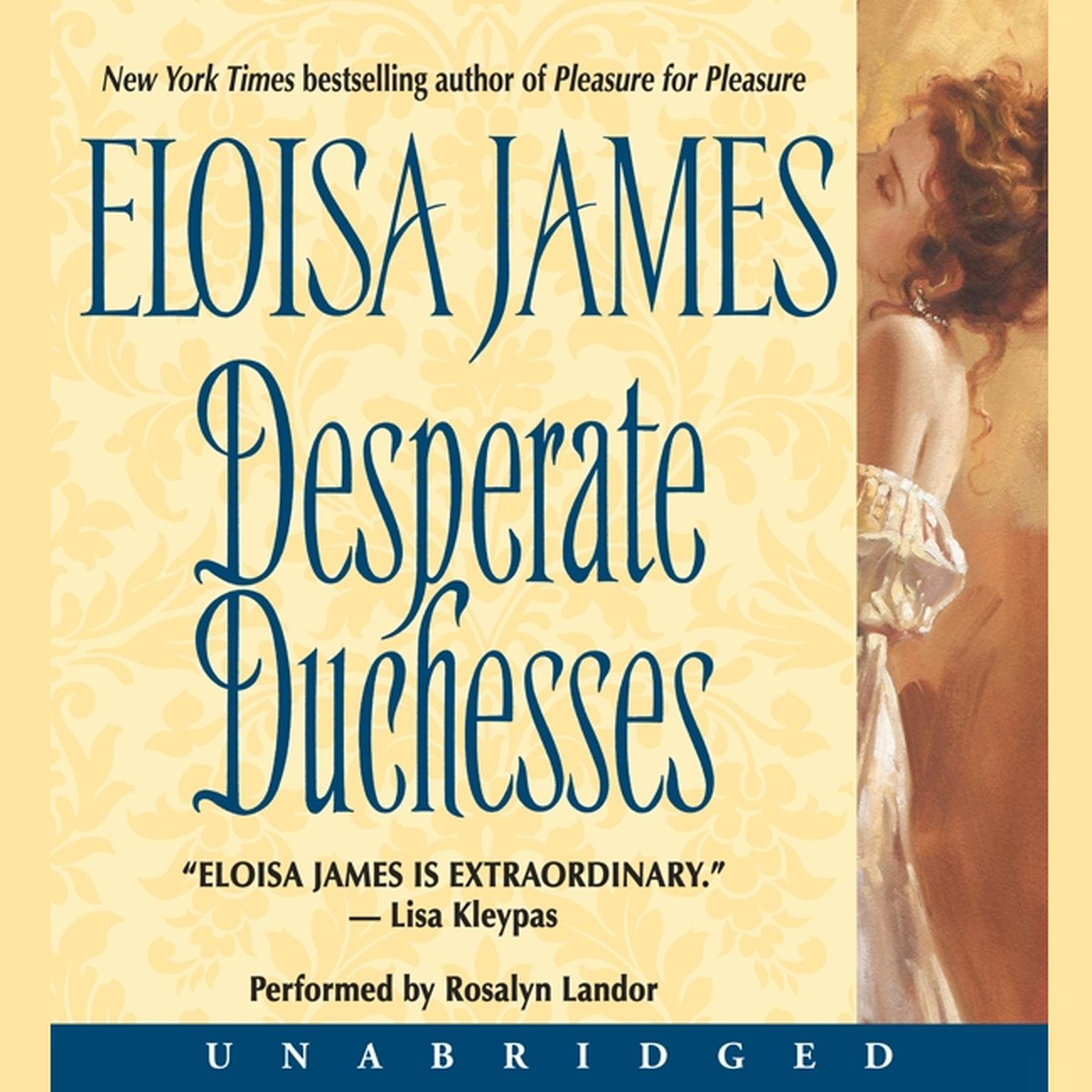 Printable Desperate Duchesses Audiobook Cover Art